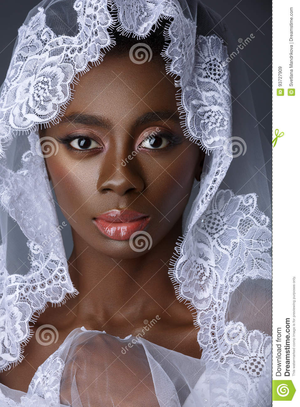 Beautiful Black Skin Bride Stock Image Image Of Happiness