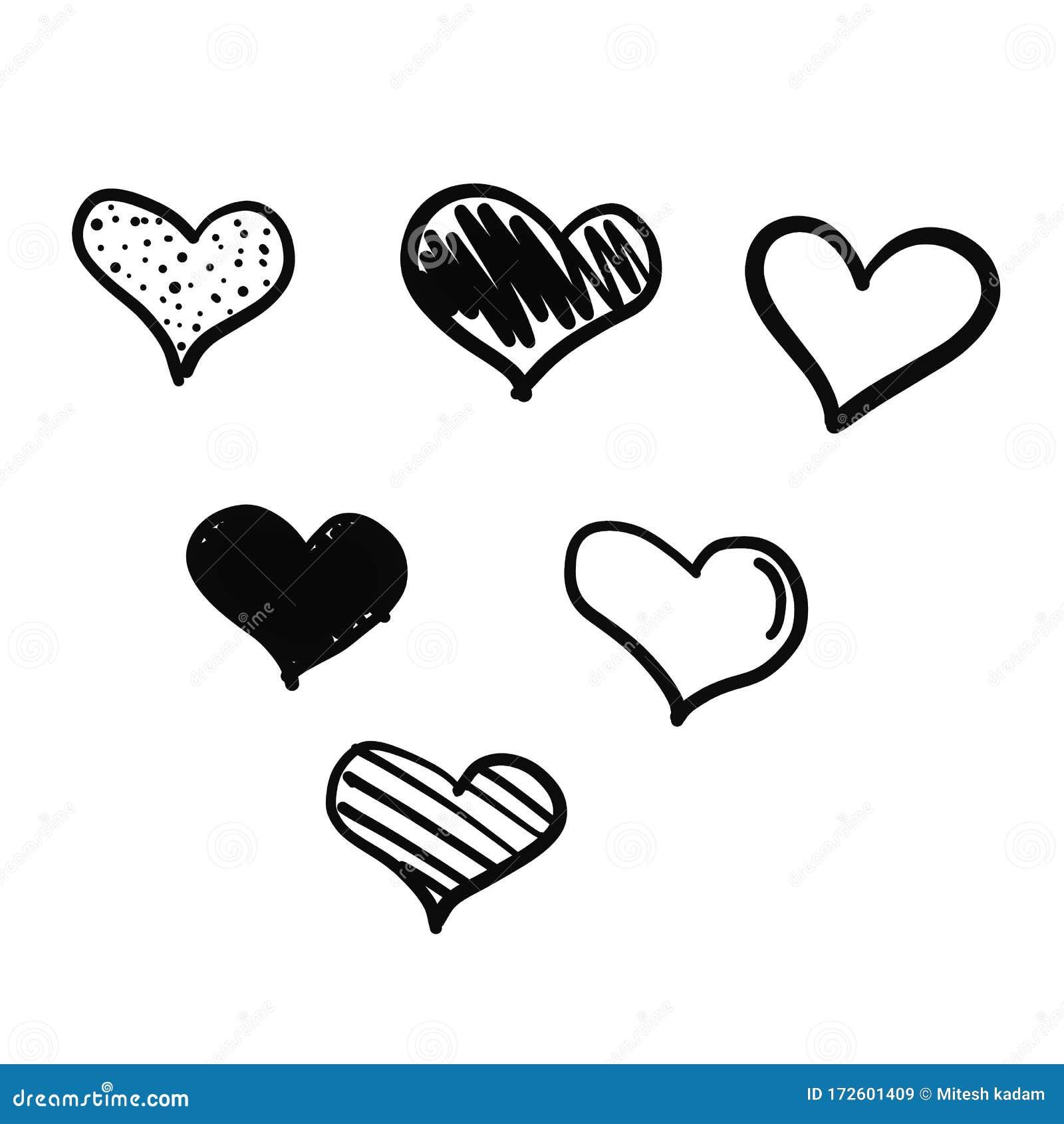 Beautiful Black Symbols Of Hearts Happy Valentines Day For Love Of Life Black Love Black Love Symbols Stock Illustration Illustration Of Life Emoji 172601409