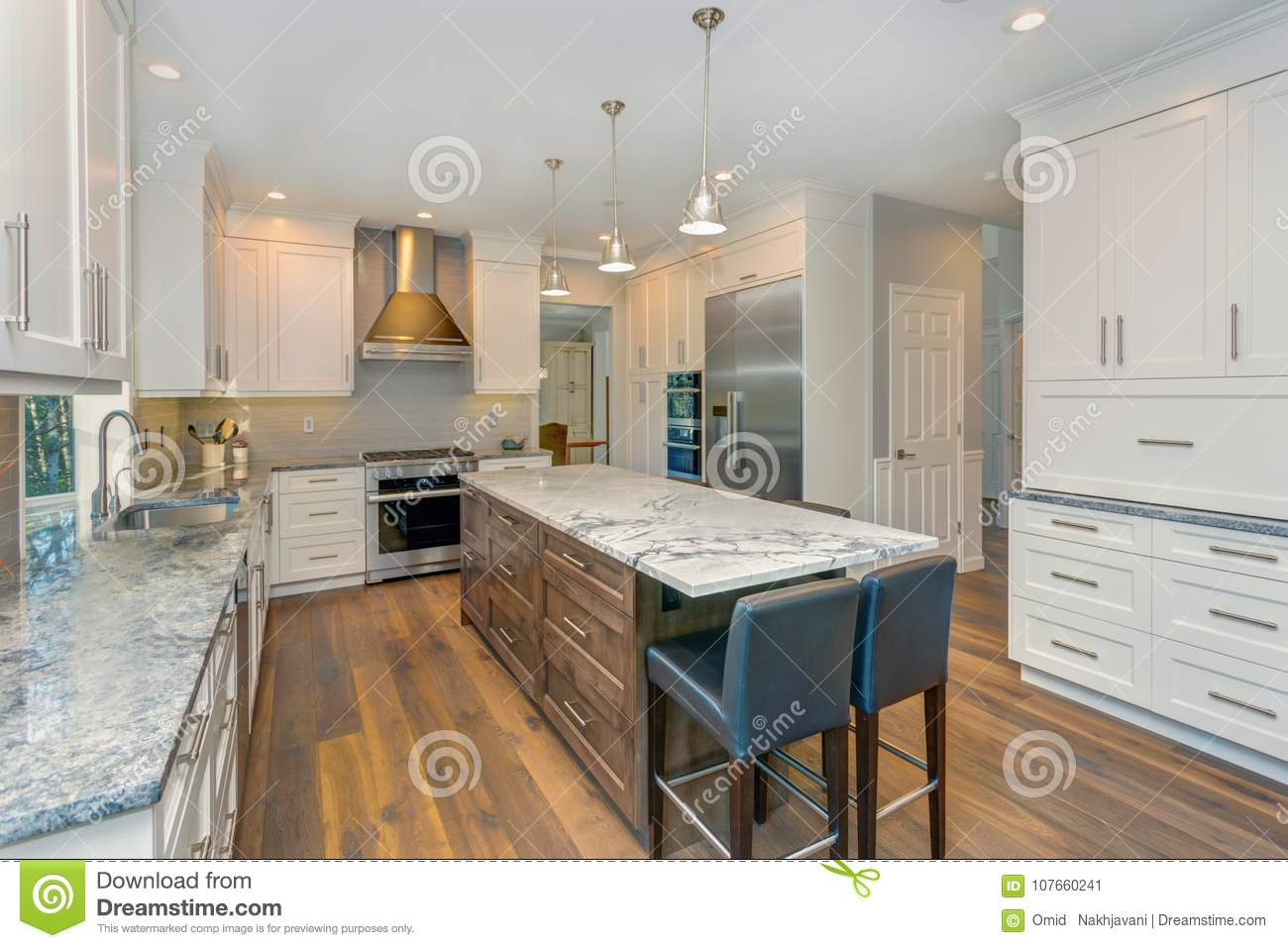 Incredible Beautiful Black And White Kitchen Design Stock Image Download Free Architecture Designs Terchretrmadebymaigaardcom