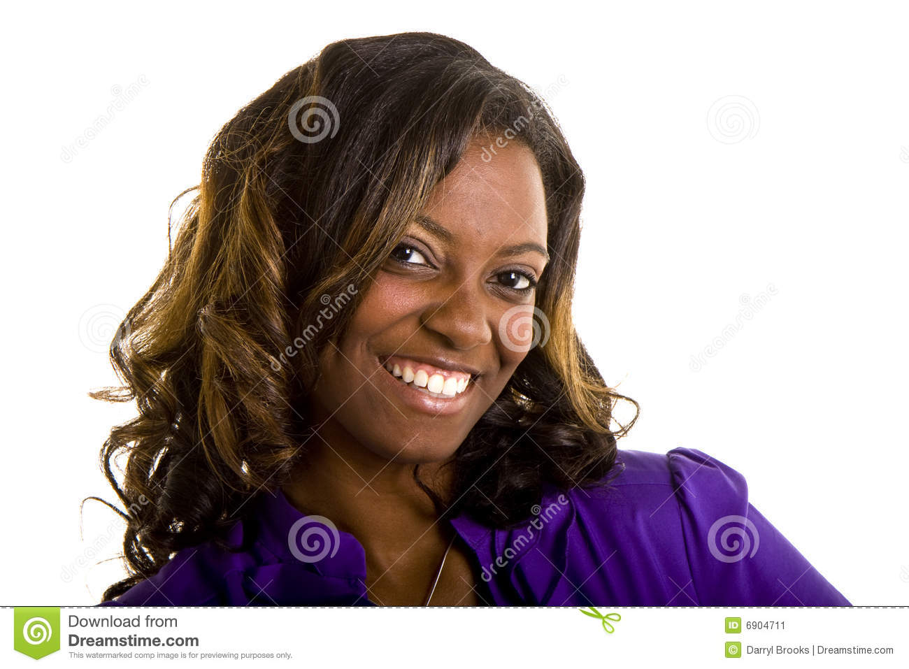 Solid Gold - African-American Woman - Birthday Greeting