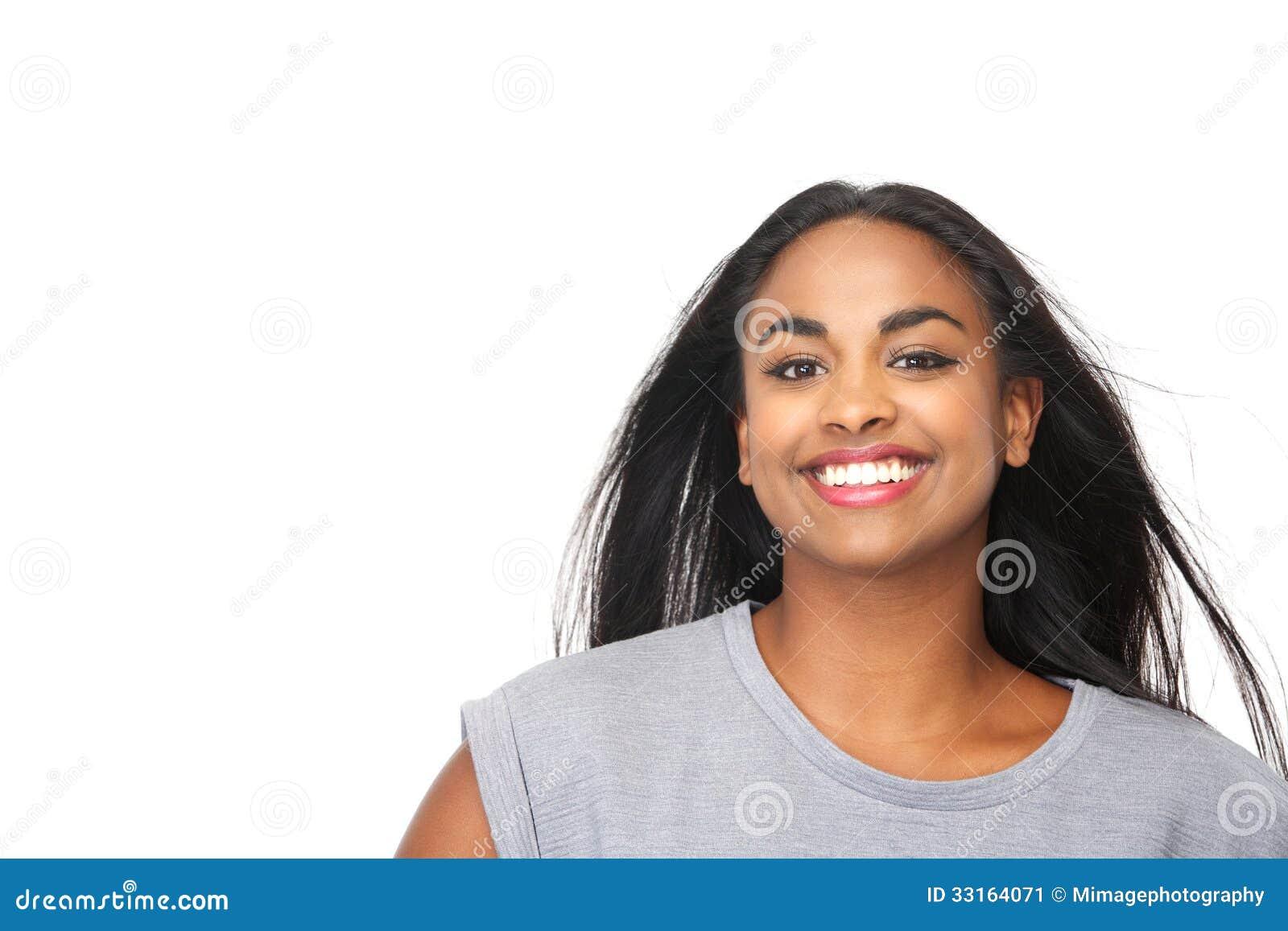 Beautiful black woman smiling stock image image 33164071 for A beautiful you at vesuvio salon studios