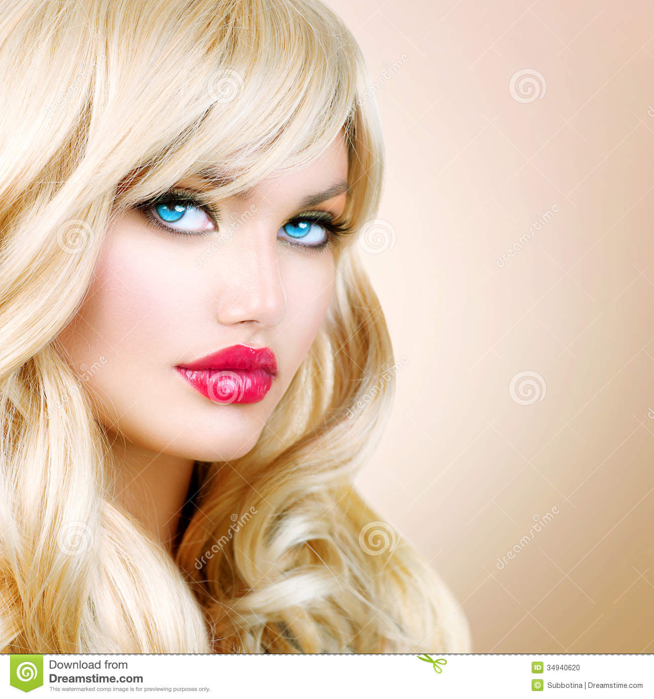 Beautiful Blond Girl Stock Photo Image Of Hairstyling