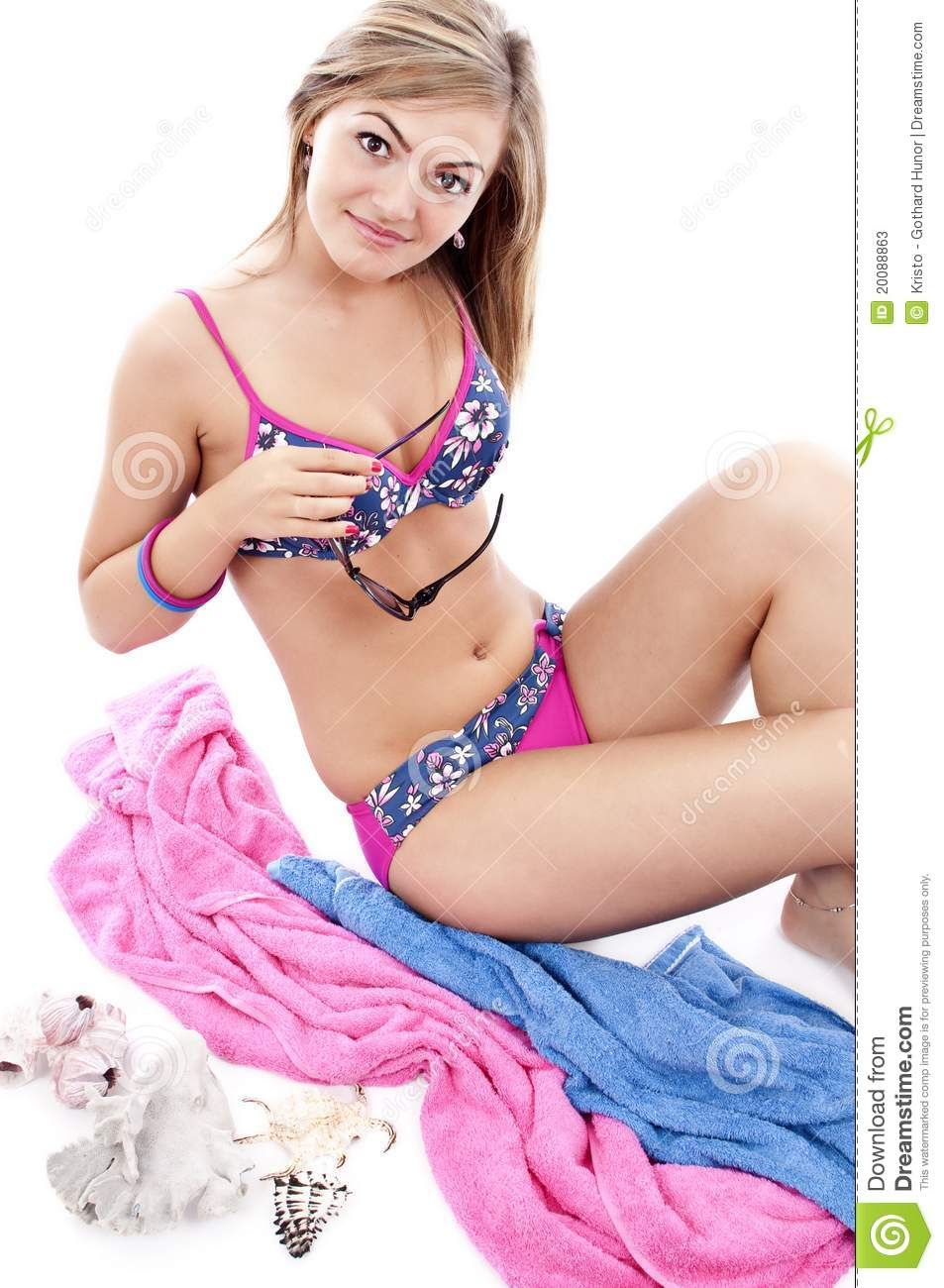 Download Beautiful Blond Girl Wearing Swimming Costume Stock Image - Image of glasses healthy  sc 1 st  Dreamstime.com & Beautiful Blond Girl Wearing Swimming Costume Stock Image - Image of ...