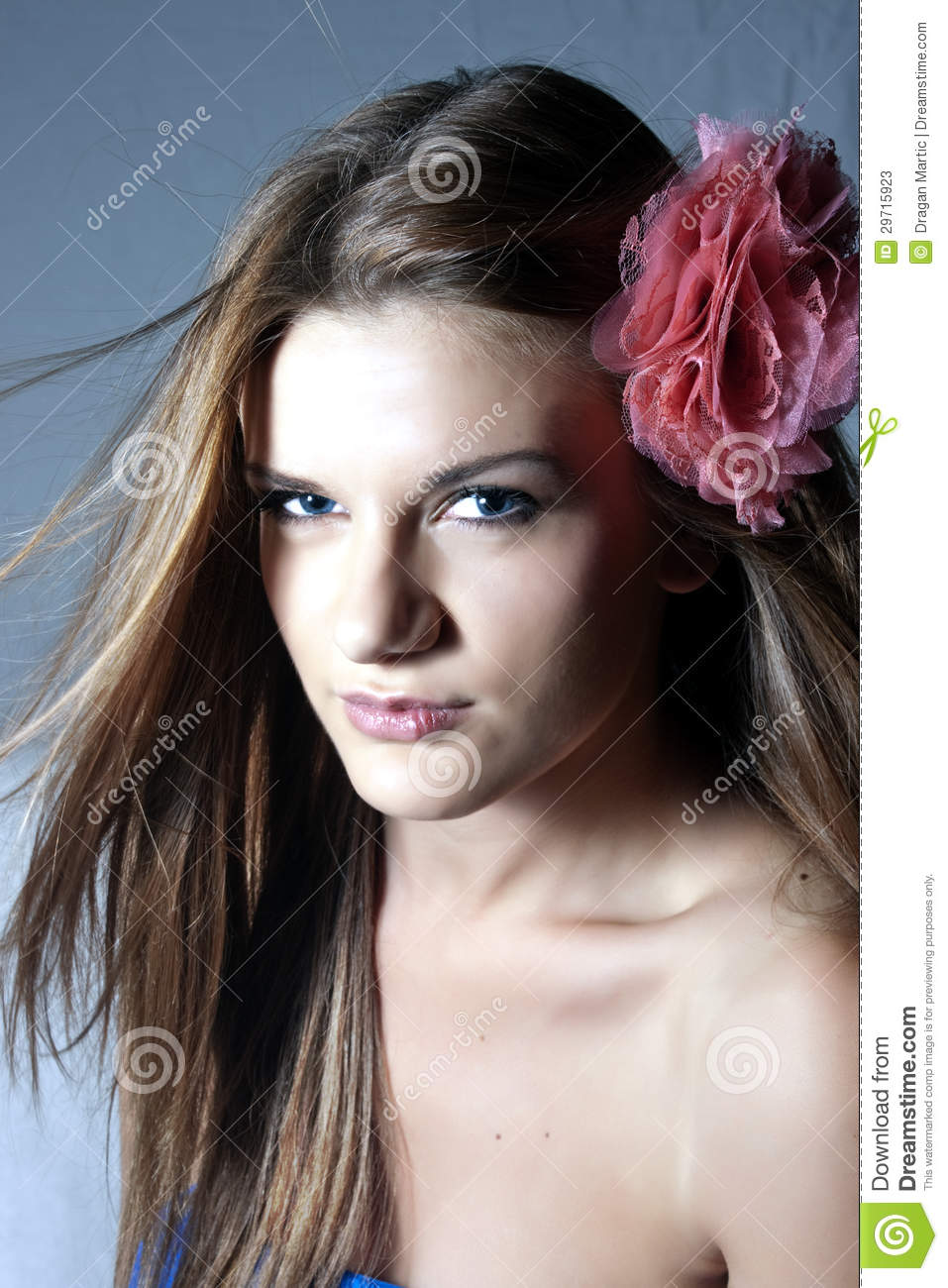 stock images pretty girl flipping hair image