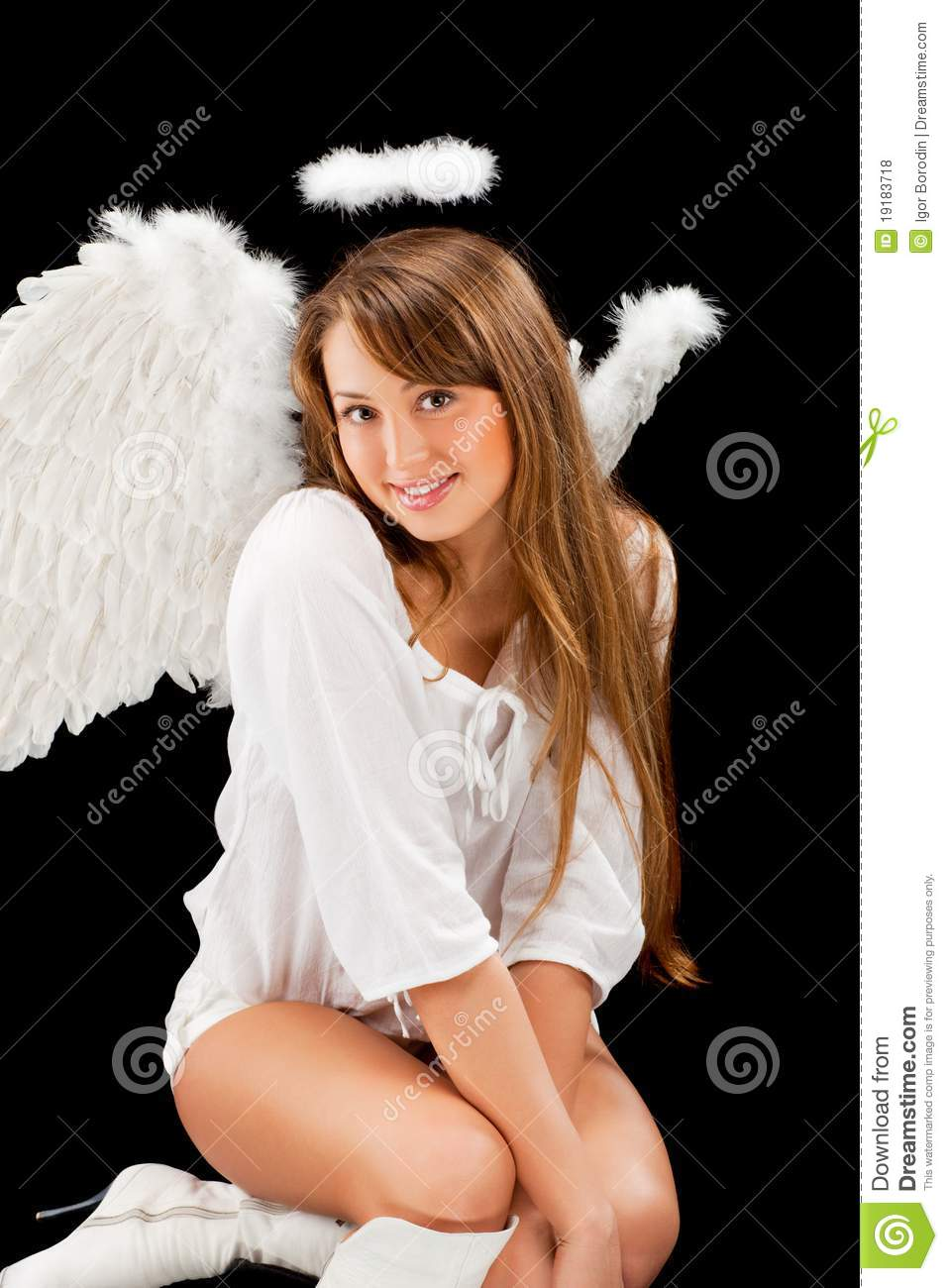 Beautiful Blonde Angel Woman Royalty Free Stock Photos