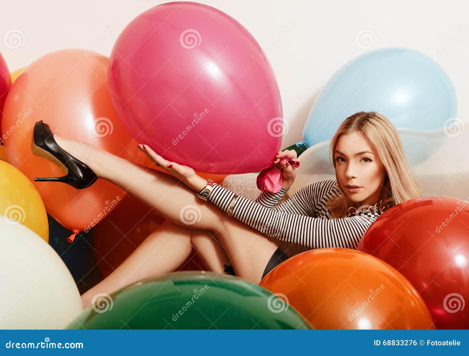 Balloon fetish women