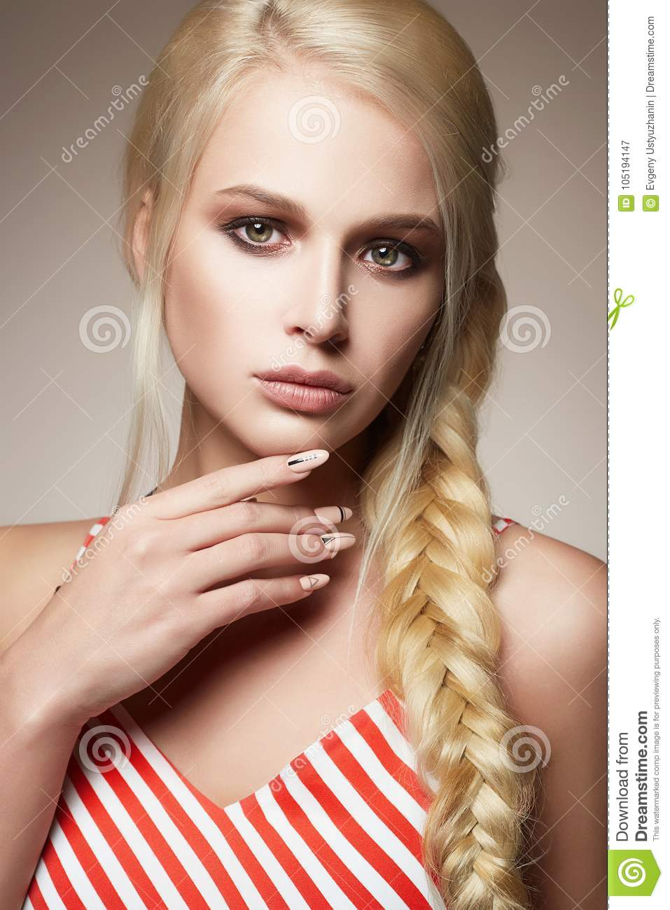 Incredible Beautiful Woman With Braided Hair Stock Image Image Of Hair Natural Hairstyles Runnerswayorg
