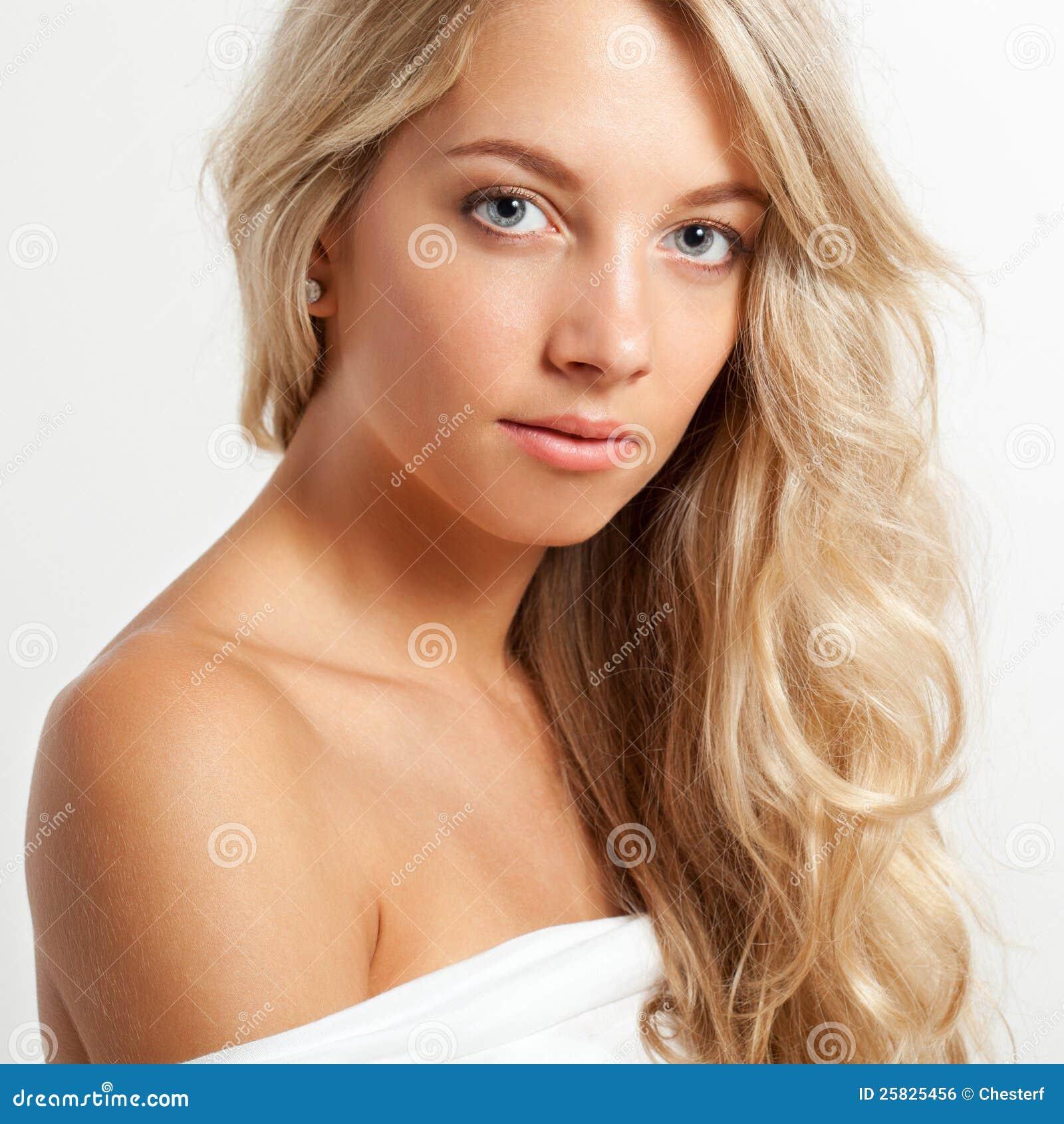 Beautiful Blonde Woman Face Portrait Royalty Free Stock