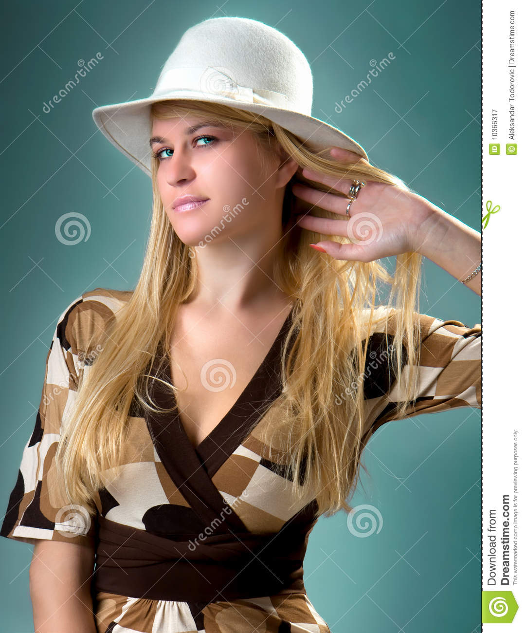 Beautiful Blondy Posing In Happy Expression Stock Image