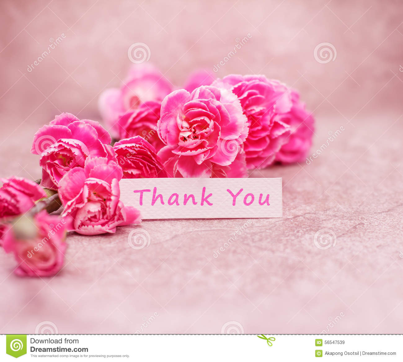 Beautiful Thank You Card Royalty Free Stock Images - Image: 38053009