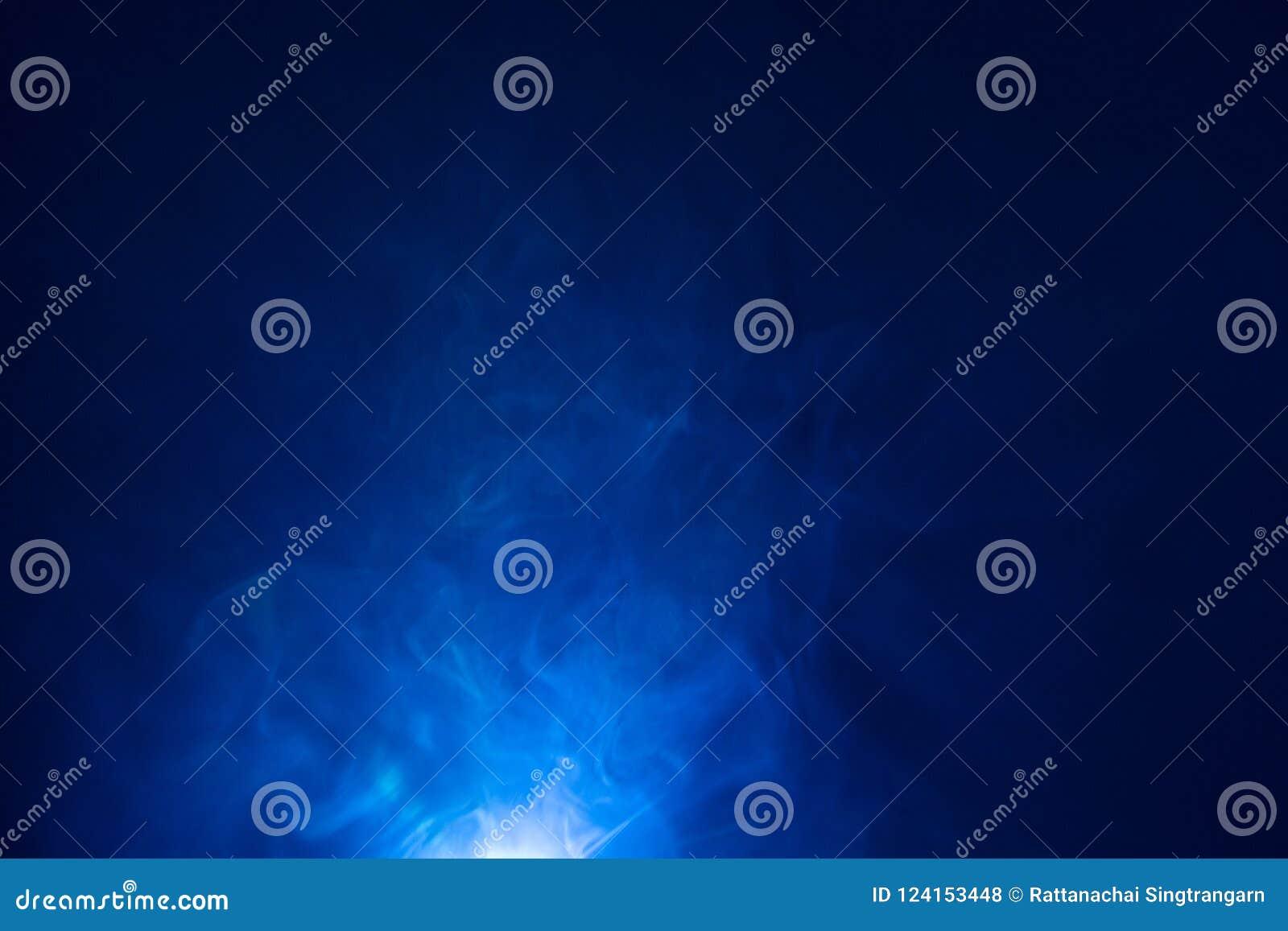 Blue color light beam , smoke texture spotlight . screening abstract background