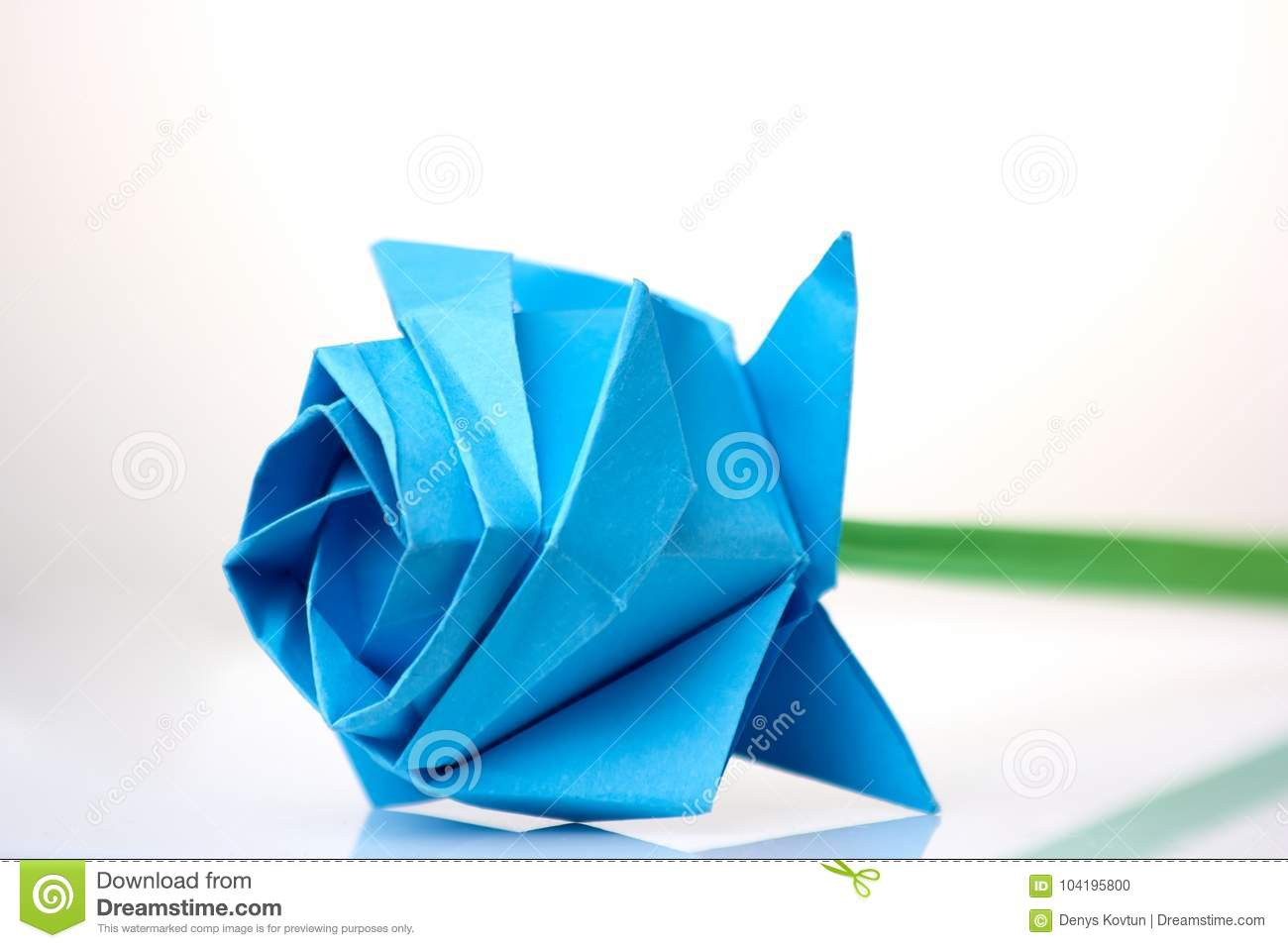 Beautiful Blue Flower Origami Stock Photo Image Of Contest