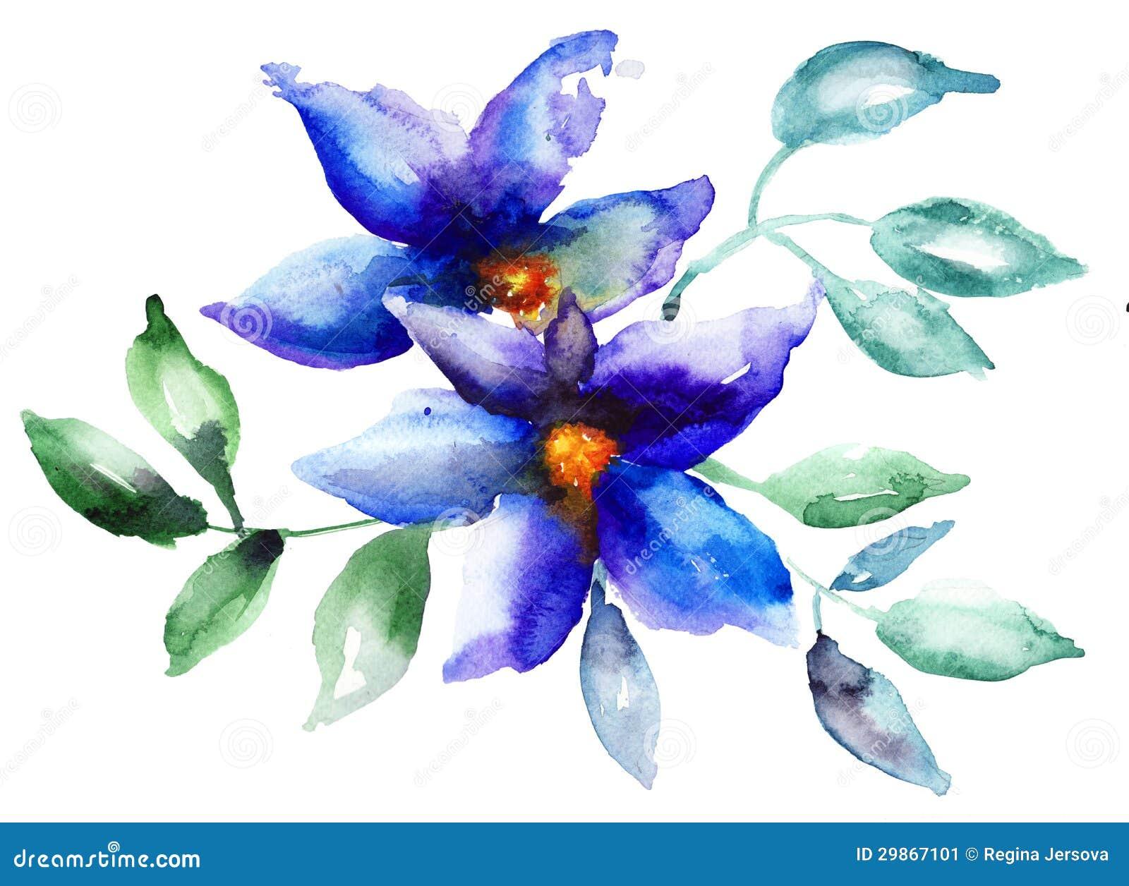 Beautiful Blue Flowers Stock Image - Image: 29867101 - photo#45