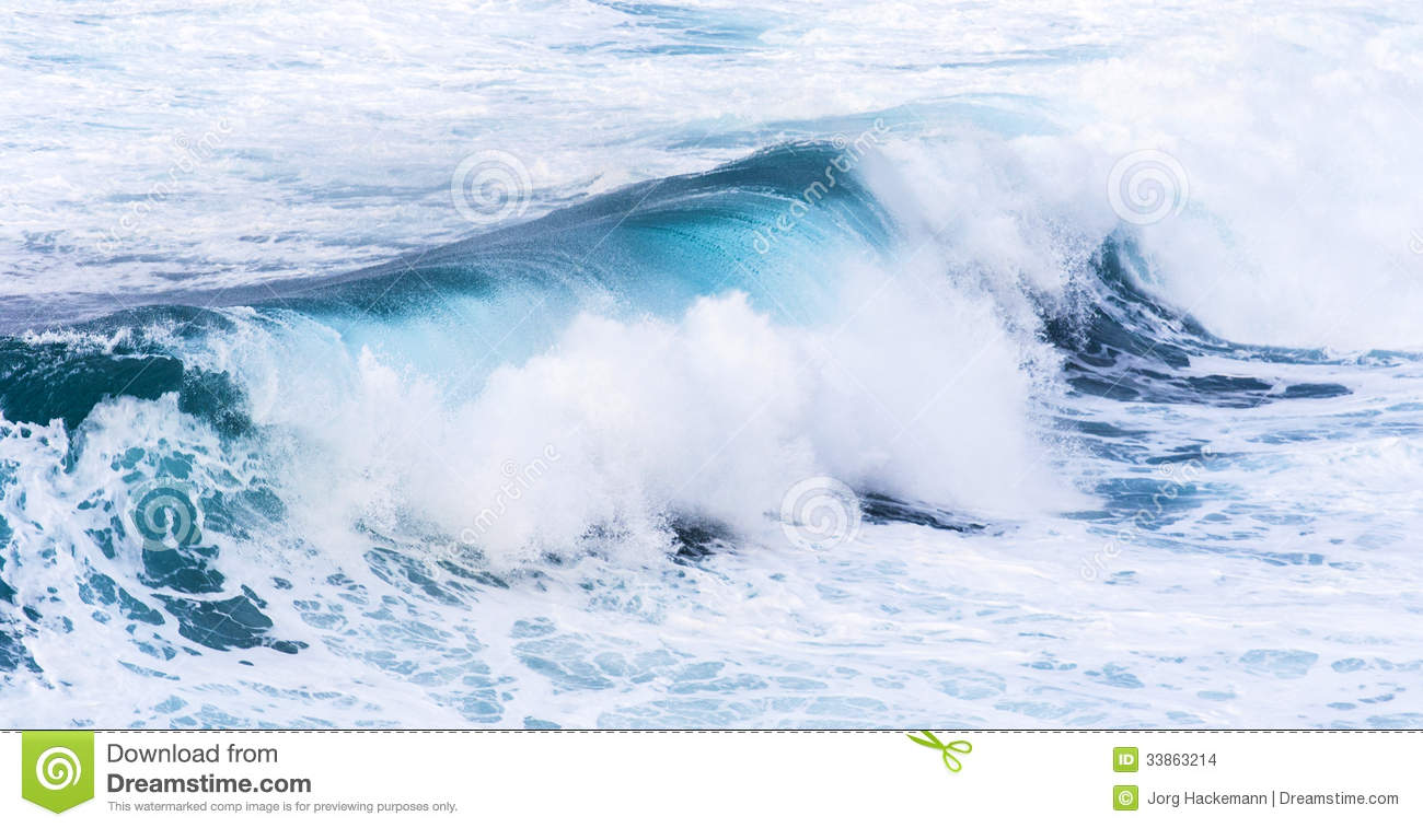 Beautiful Blue High Waves Stock Images Image 33863214