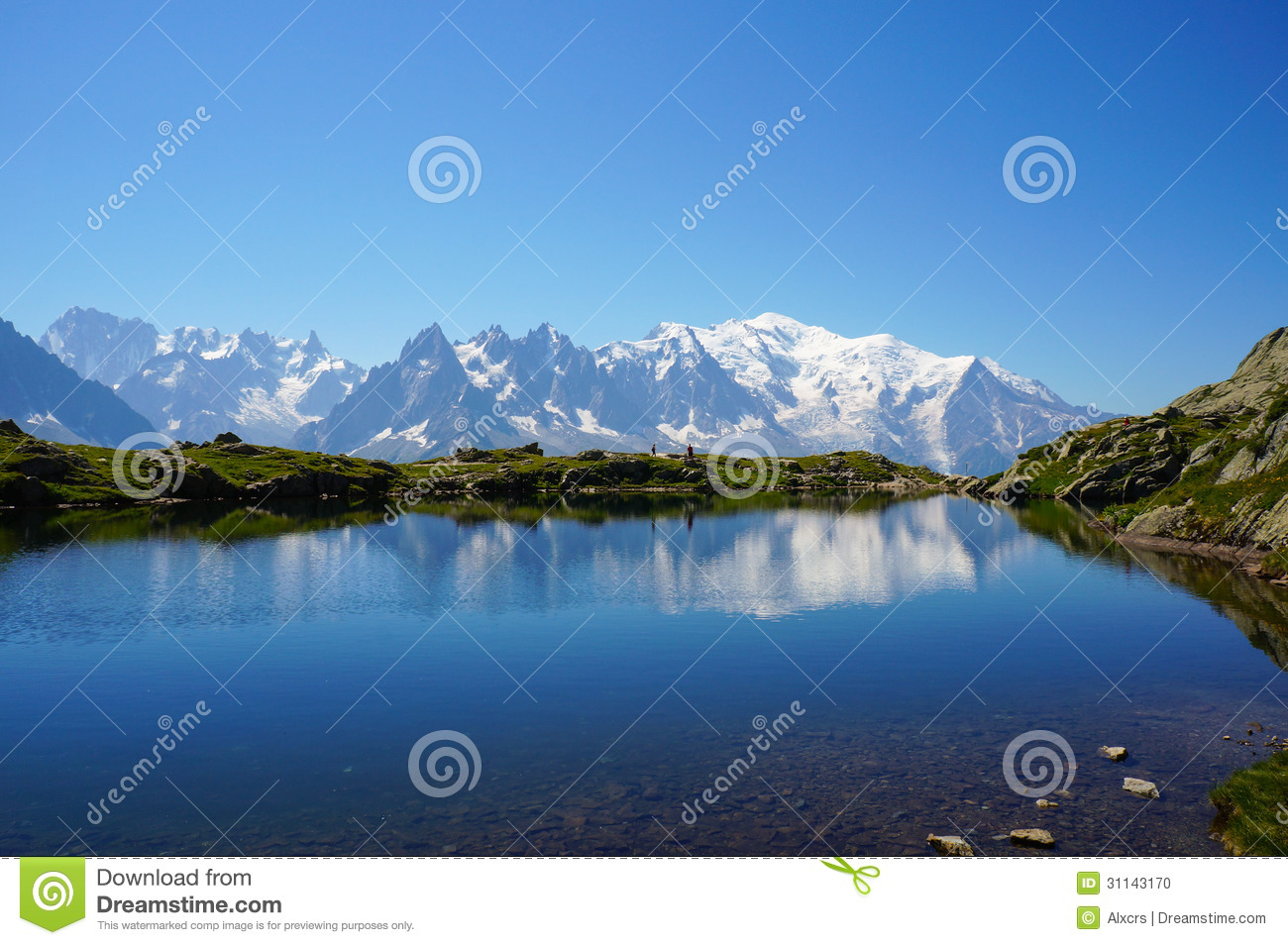 Beautiful Blue Lake In The Mountains Stock Photo - Image: 61706018