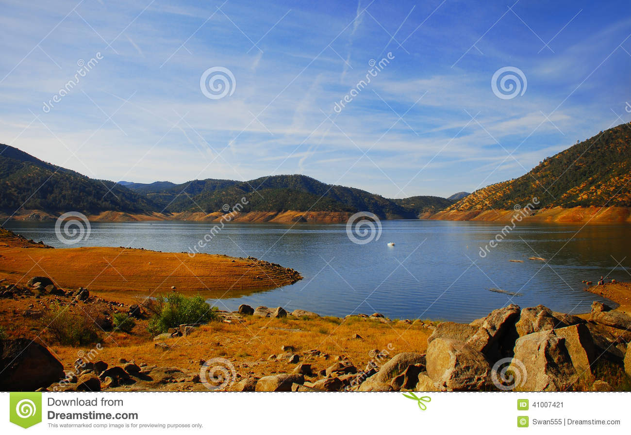 Beautiful Blue Lake In The Mountains Stock Photo - Image: 67637225