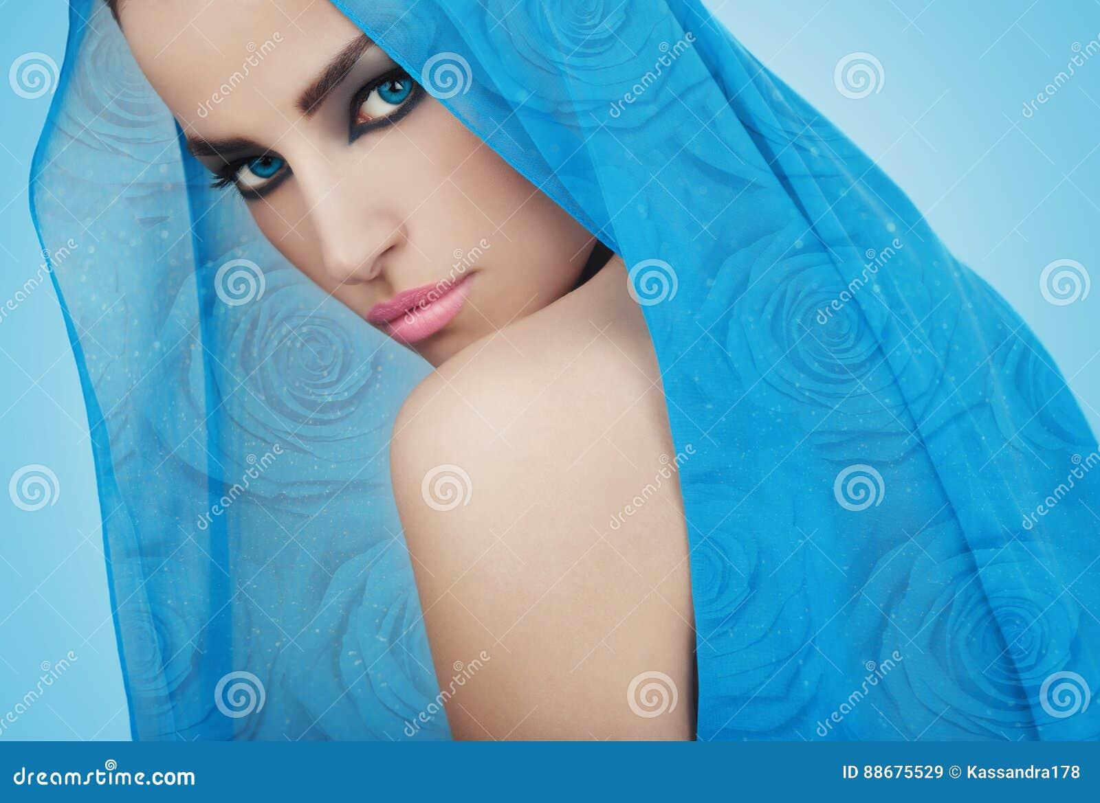 Beautiful blue princess