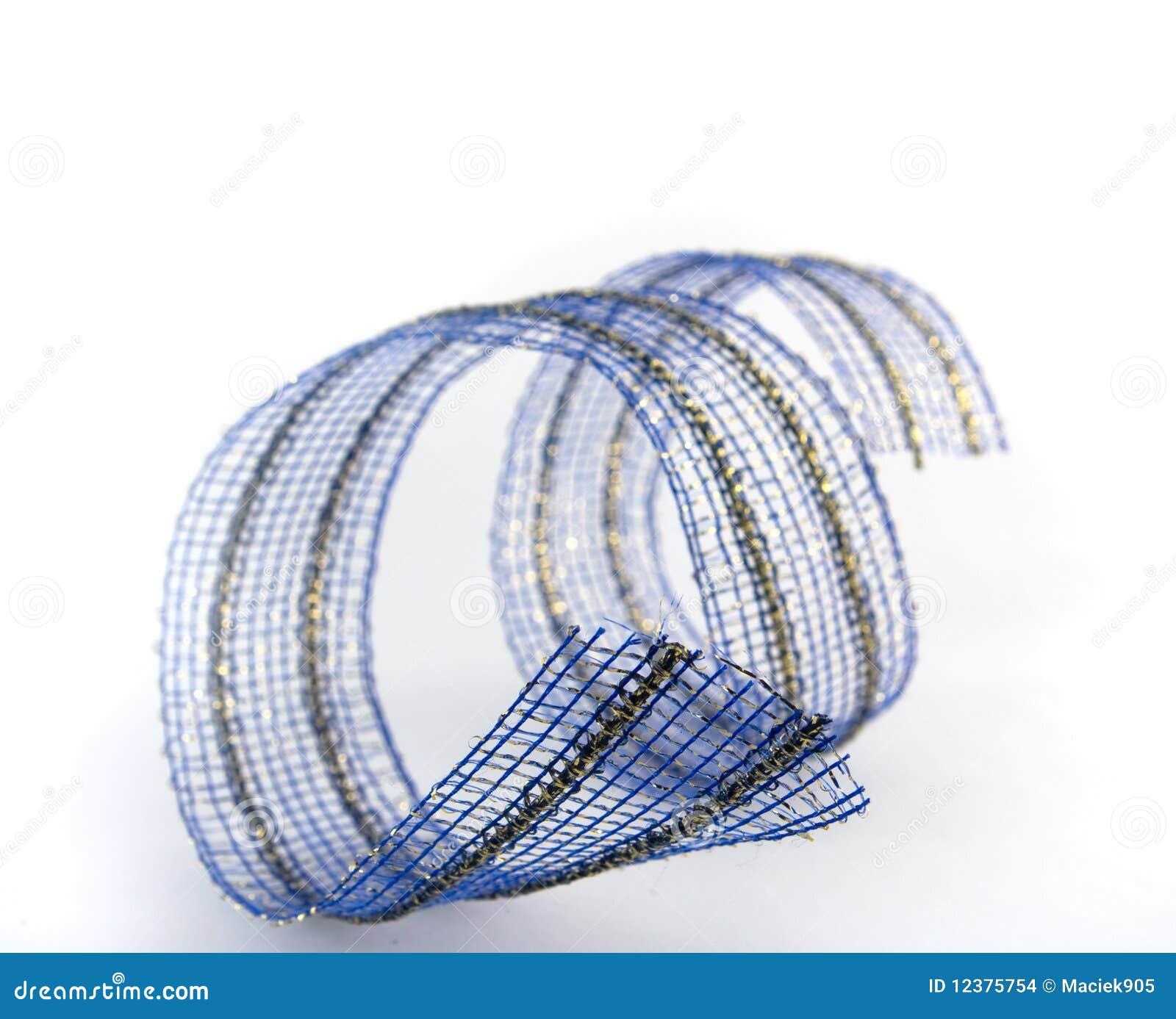 Beautiful blue ribbon