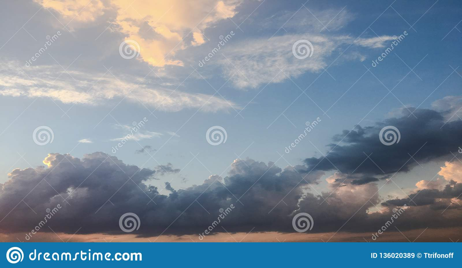 Clouds, sky blue background. cloud blue sky