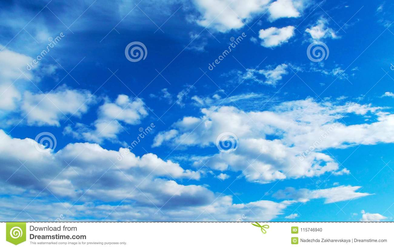 Beautiful blue sky and clouds.
