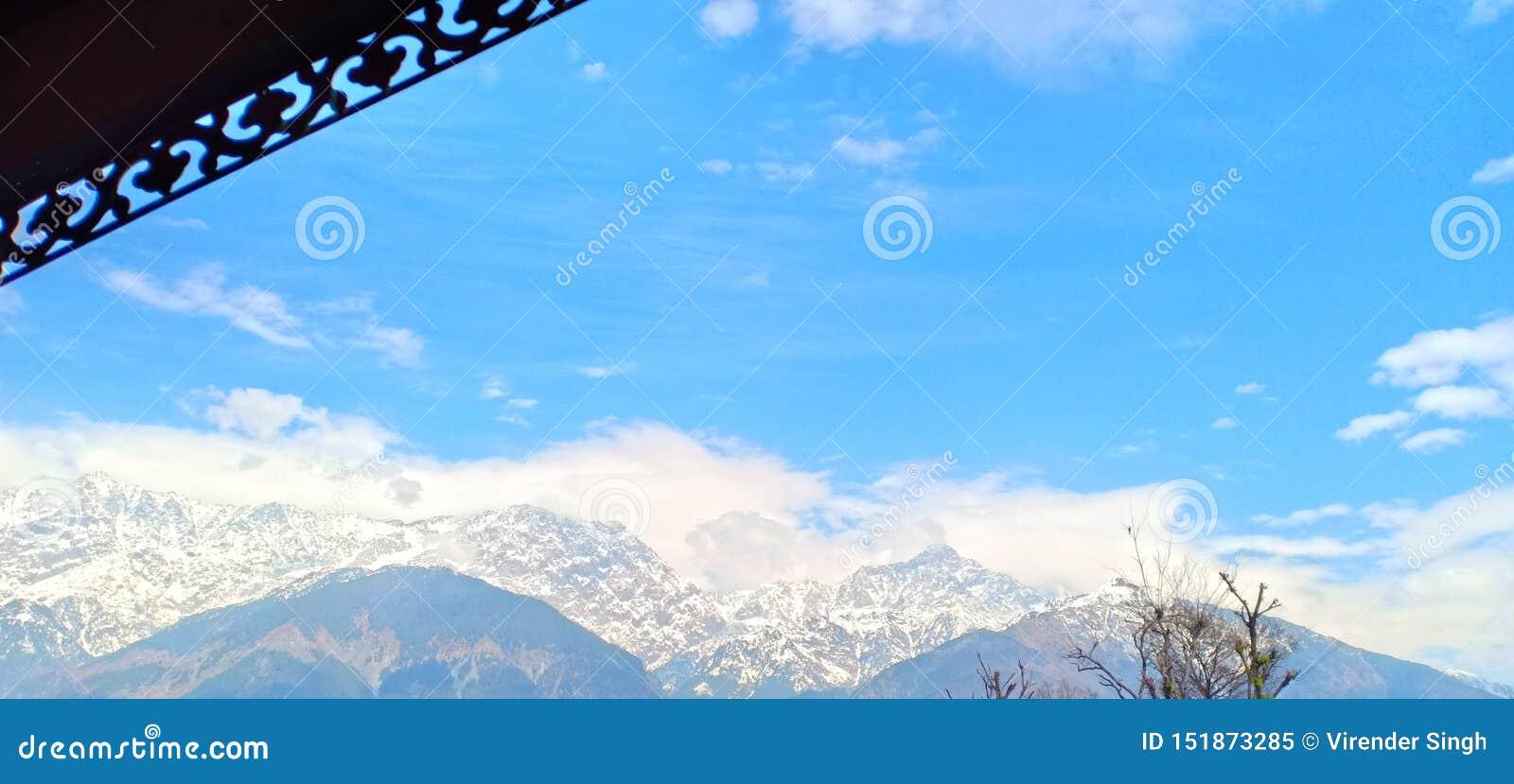 Beautiful blue sky Himachal Pradesh