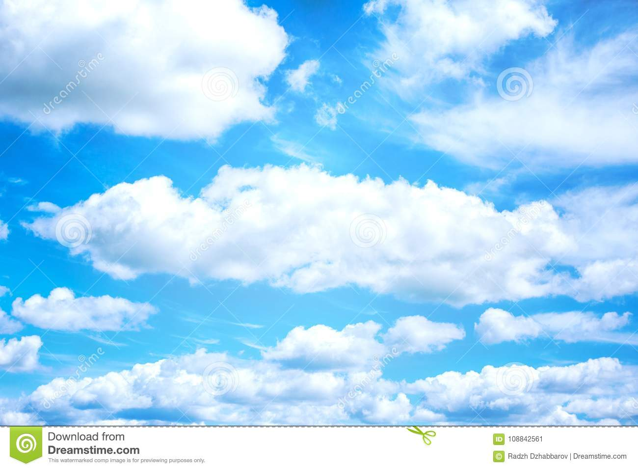 Beautiful Blue Sky And White Clouds Background Wallpaper Stock Image Image Of Cloud Landscape 108842561
