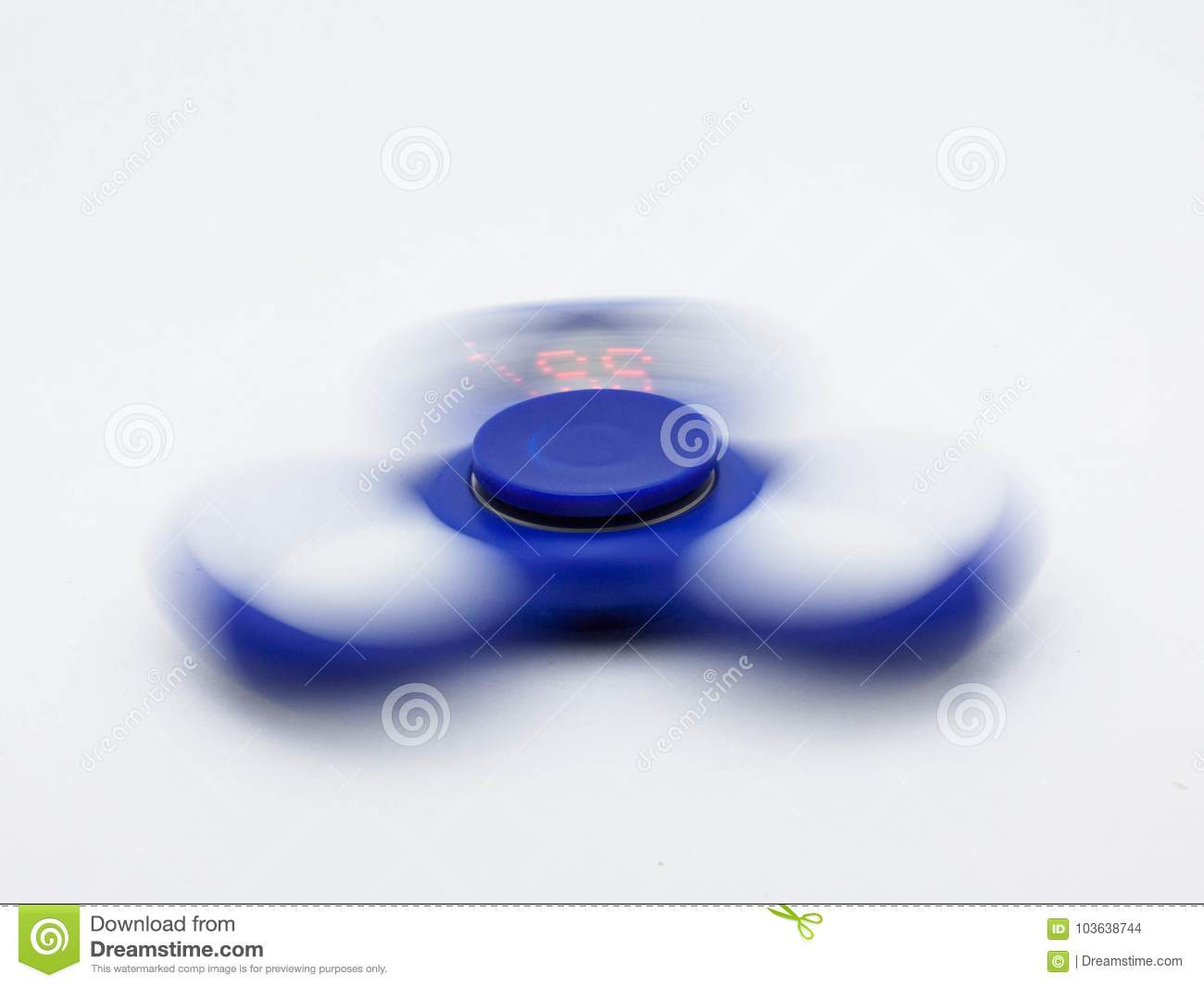 Clipart spinner in motion on a white background