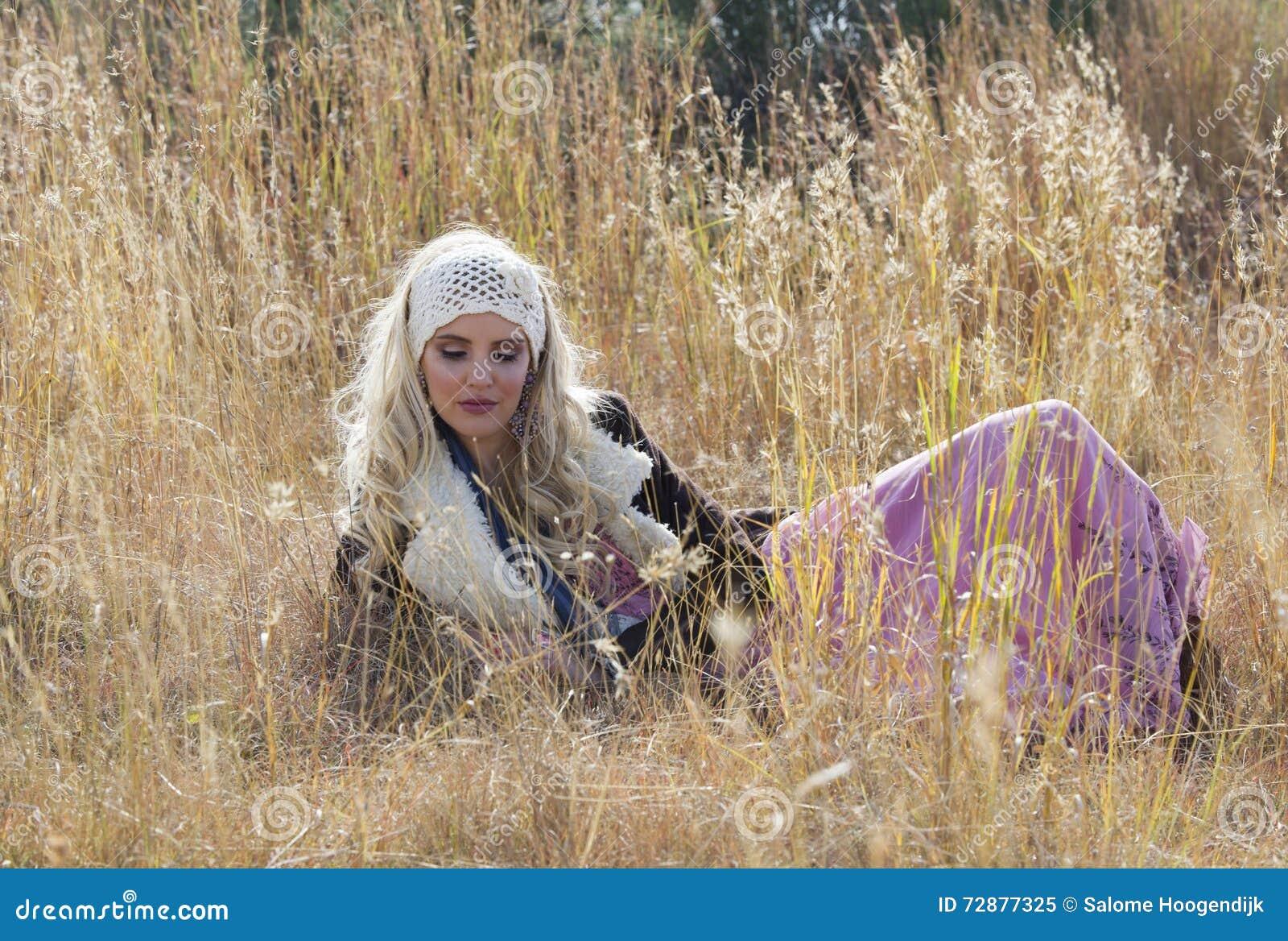 Beautiful bohemian woman portrait stock photo   image: 53397583