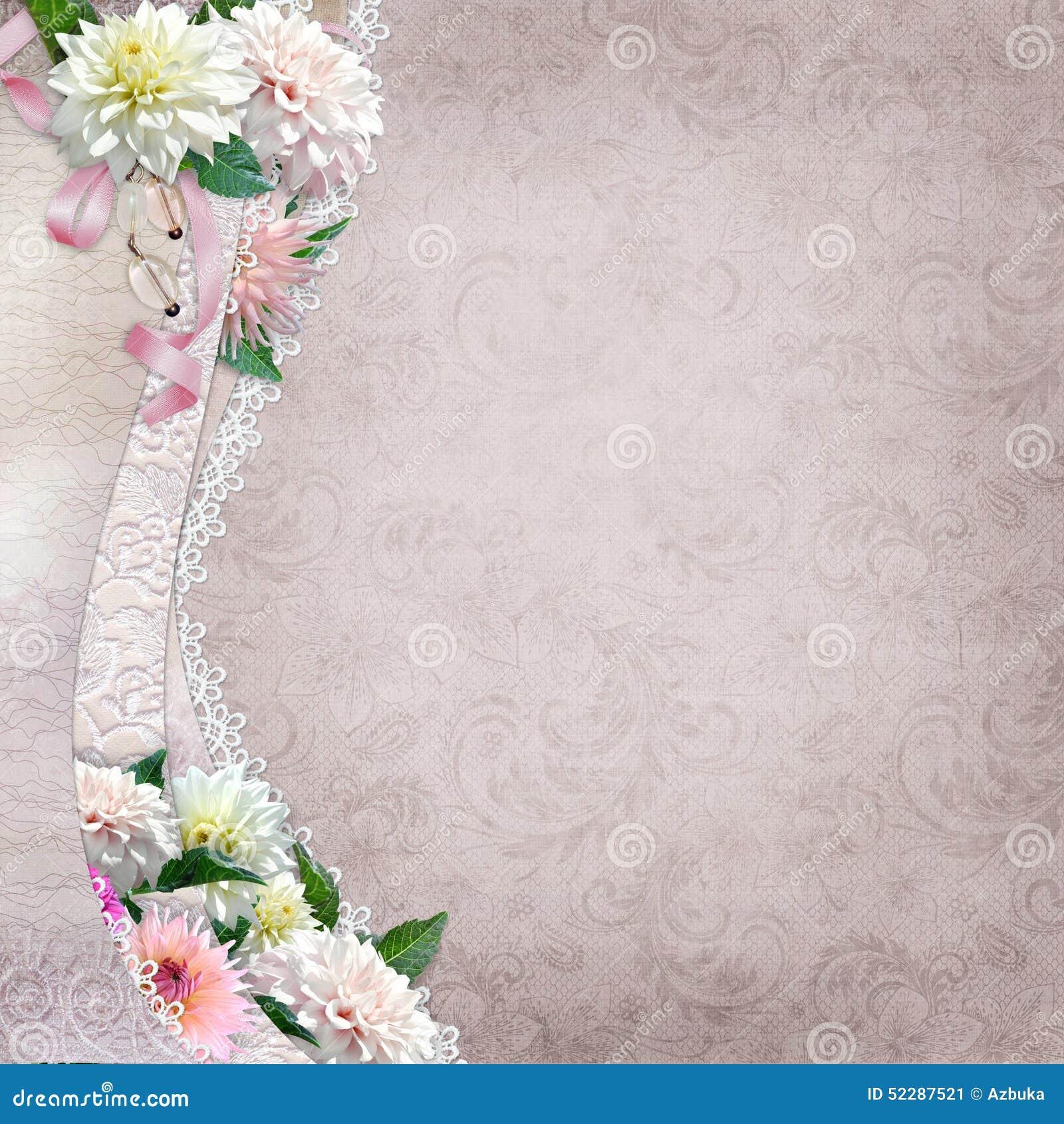 Vintage Pink Lace Flowers Dress Images