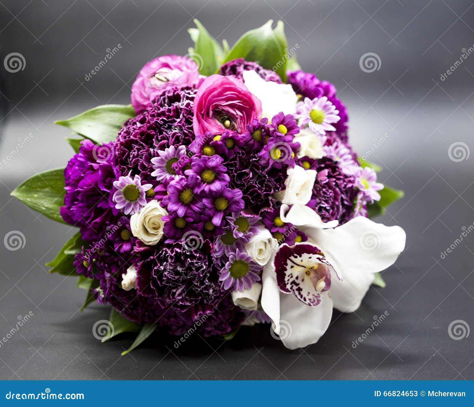 Dark Purple Flower Bouquet