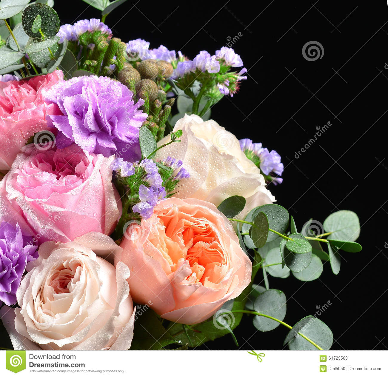 Beautiful Bouquet Of Bright White Pink Purple Roses ...