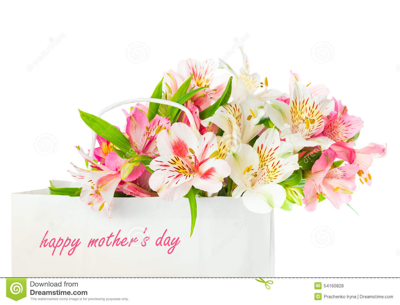 Beautiful Bouquet Of Flowers For Mother\'s Day Stock Photo - Image of ...