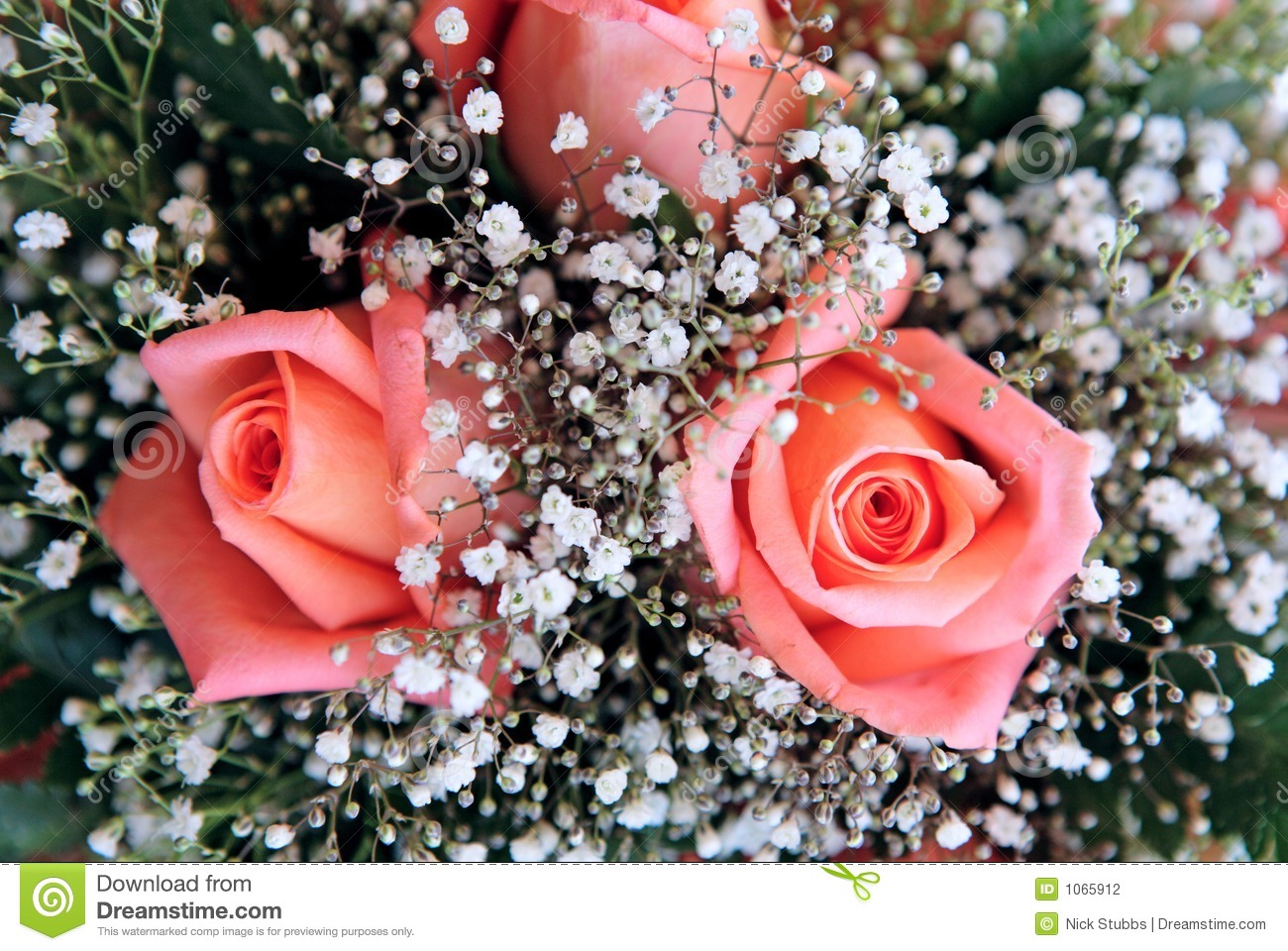 Beautiful bouquet of flowers at a wedding stock photo for Images of bouquets of roses