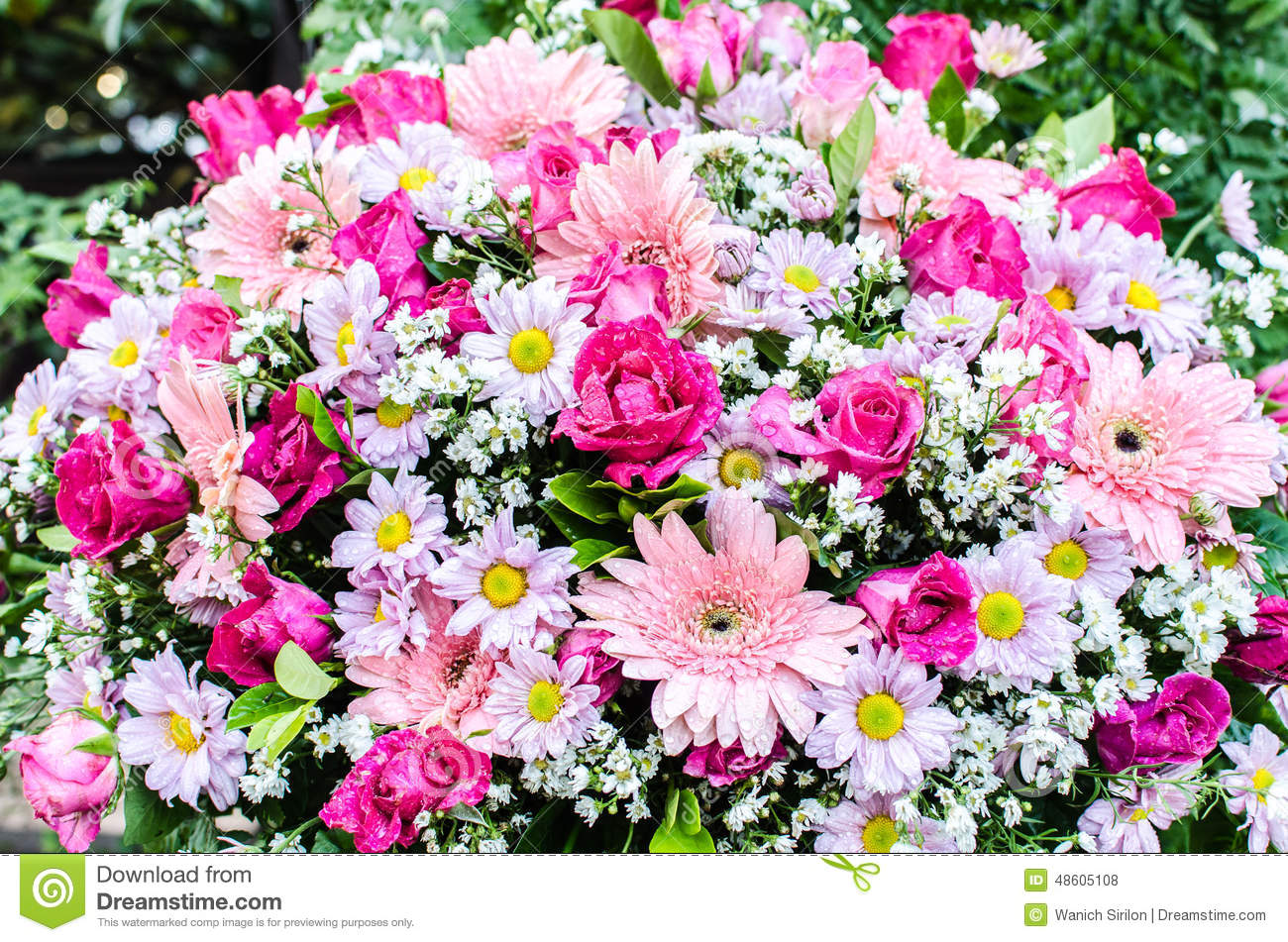Beautiful Bouquet Of Flowers For Wedding Ceremony Stock Photo ...