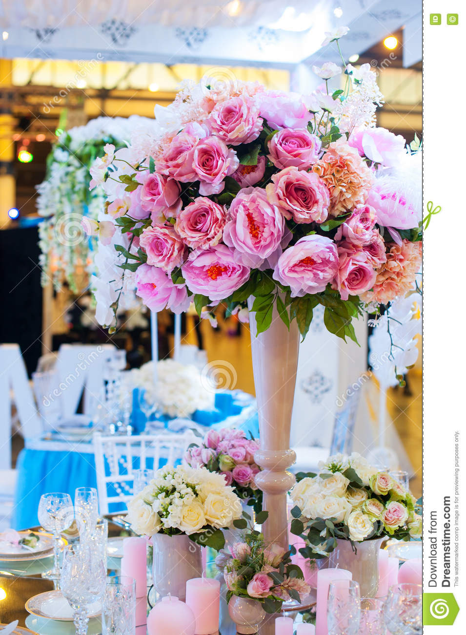 flower decorations for wedding tables beautiful restaurant interior table decoration for wedding 4166