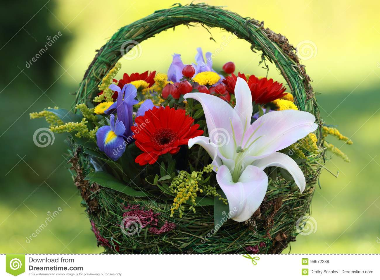 Beautiful Bouquet Of Flowers For Women. Stock Photo - Image of ...