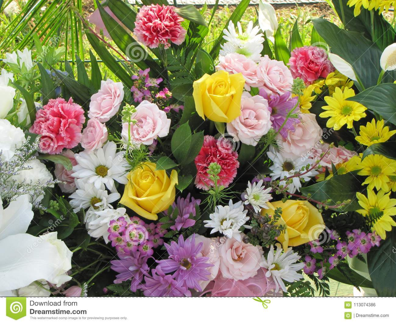 Roses and daises and carnations oh my what a bouquet stock photo roses and daises and carnations oh my what a bouquet izmirmasajfo