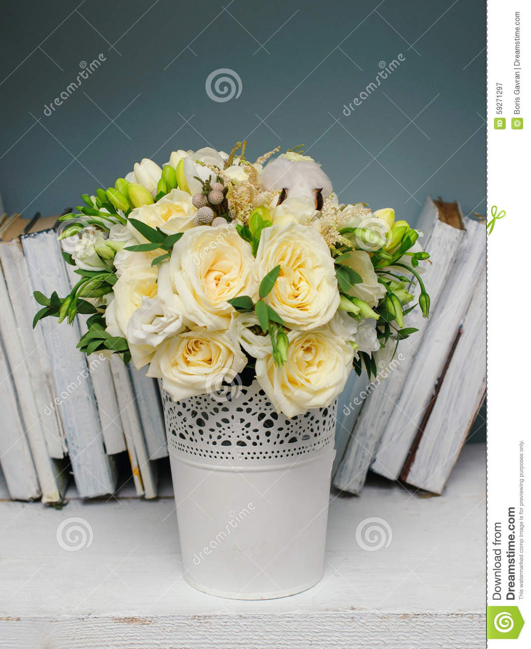 Beautiful bouquet with roses for the bride or birthday girl stock beautiful bouquet with roses for the bride or birthday girl izmirmasajfo