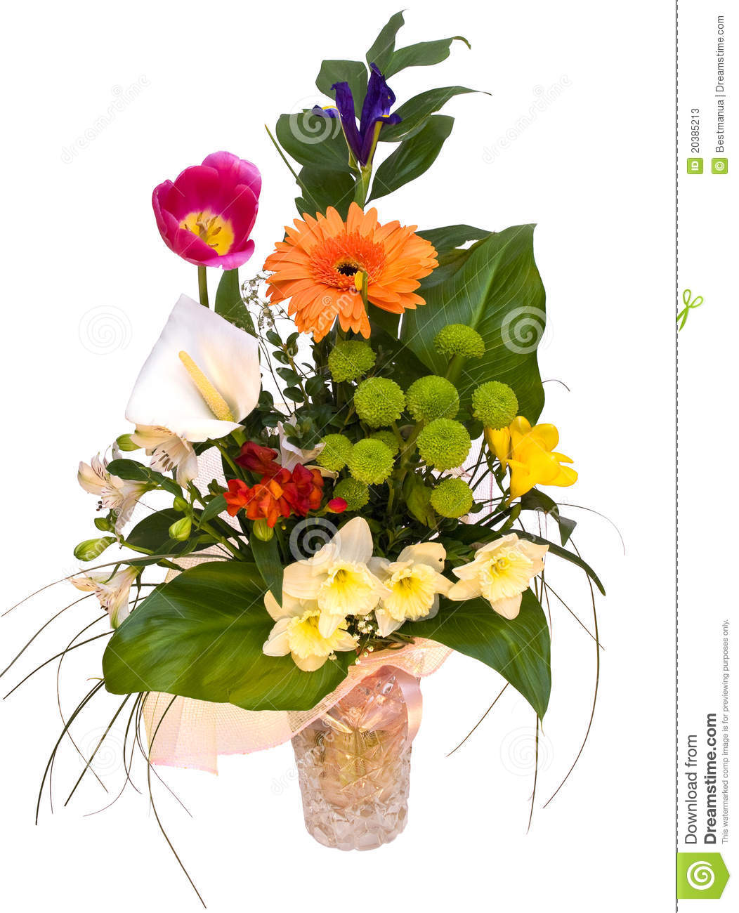 Beautiful Bouquet Of Spring Flowers Stock Image - Image of flower ...
