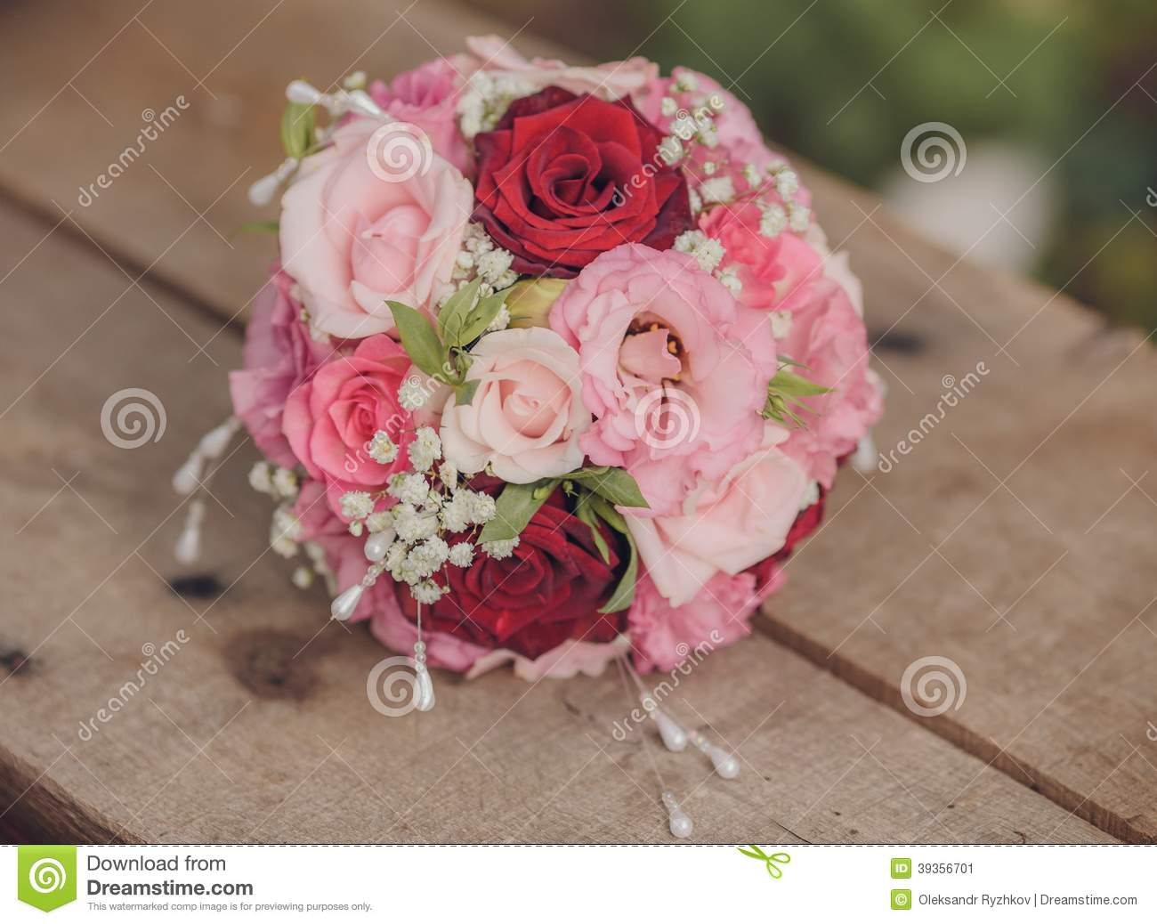 Beautiful Bouquet Of Wedding Flowers Stock Image - Image of ...