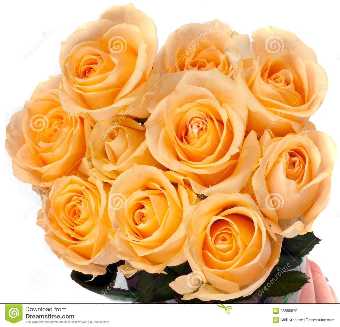 Beautiful Bouquet Of Yellow Roses Stock Photo Image Of Copy Gift