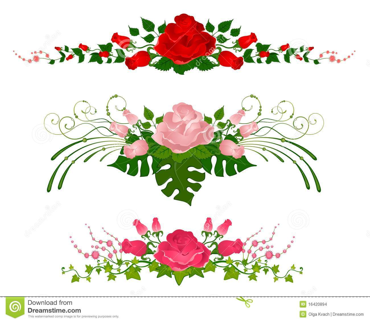 Beautiful bouquets from roses