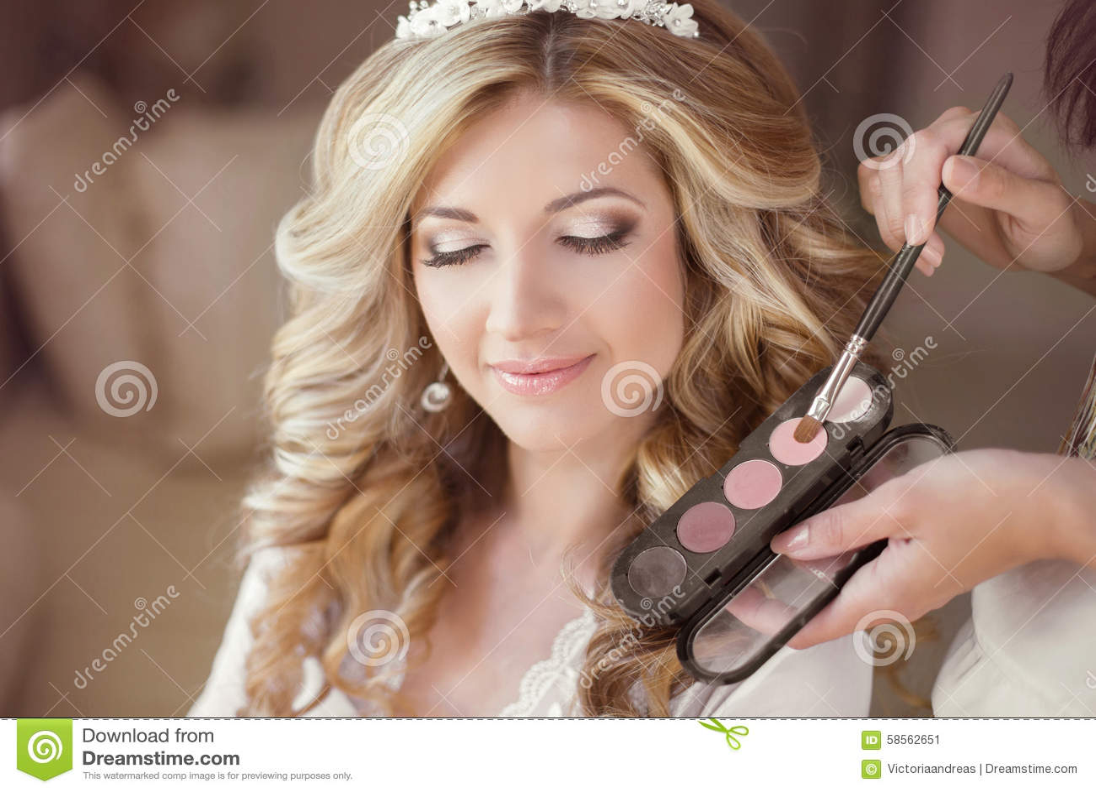 Royalty Free Stock Photo Beautiful Bride With Wedding Makeup
