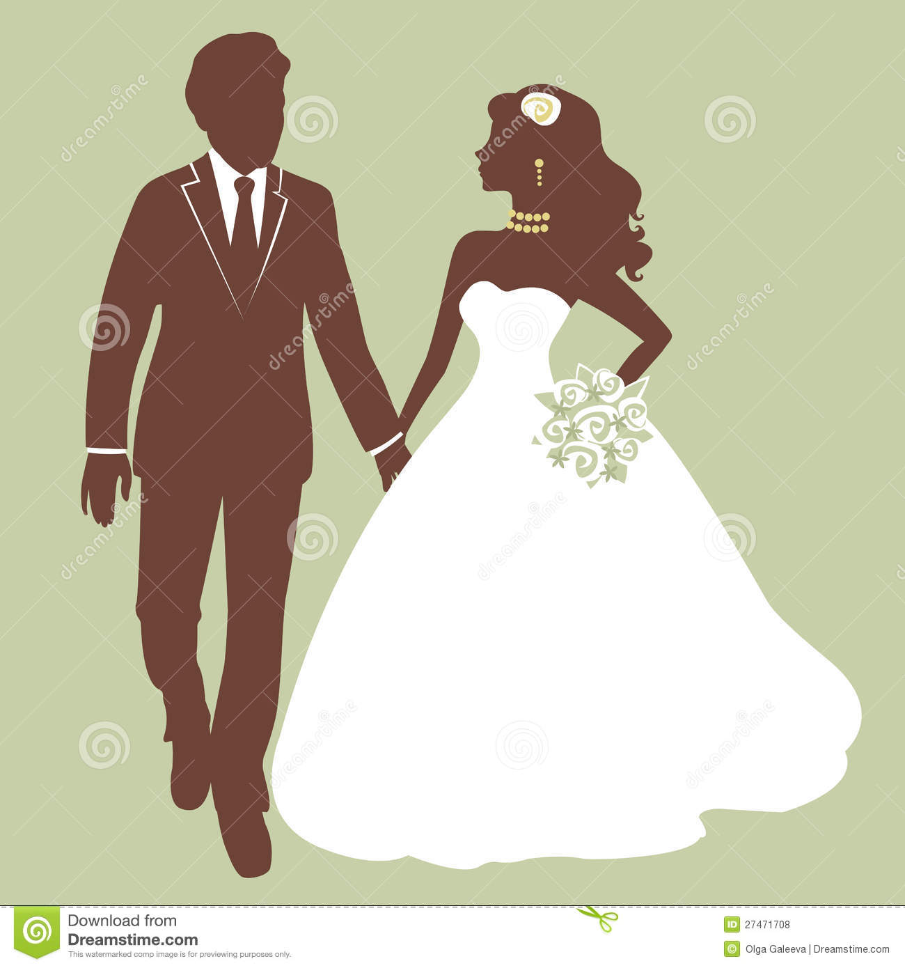 Swell Beautiful Bride And Groom Running Stock Vector Download Free Architecture Designs Scobabritishbridgeorg