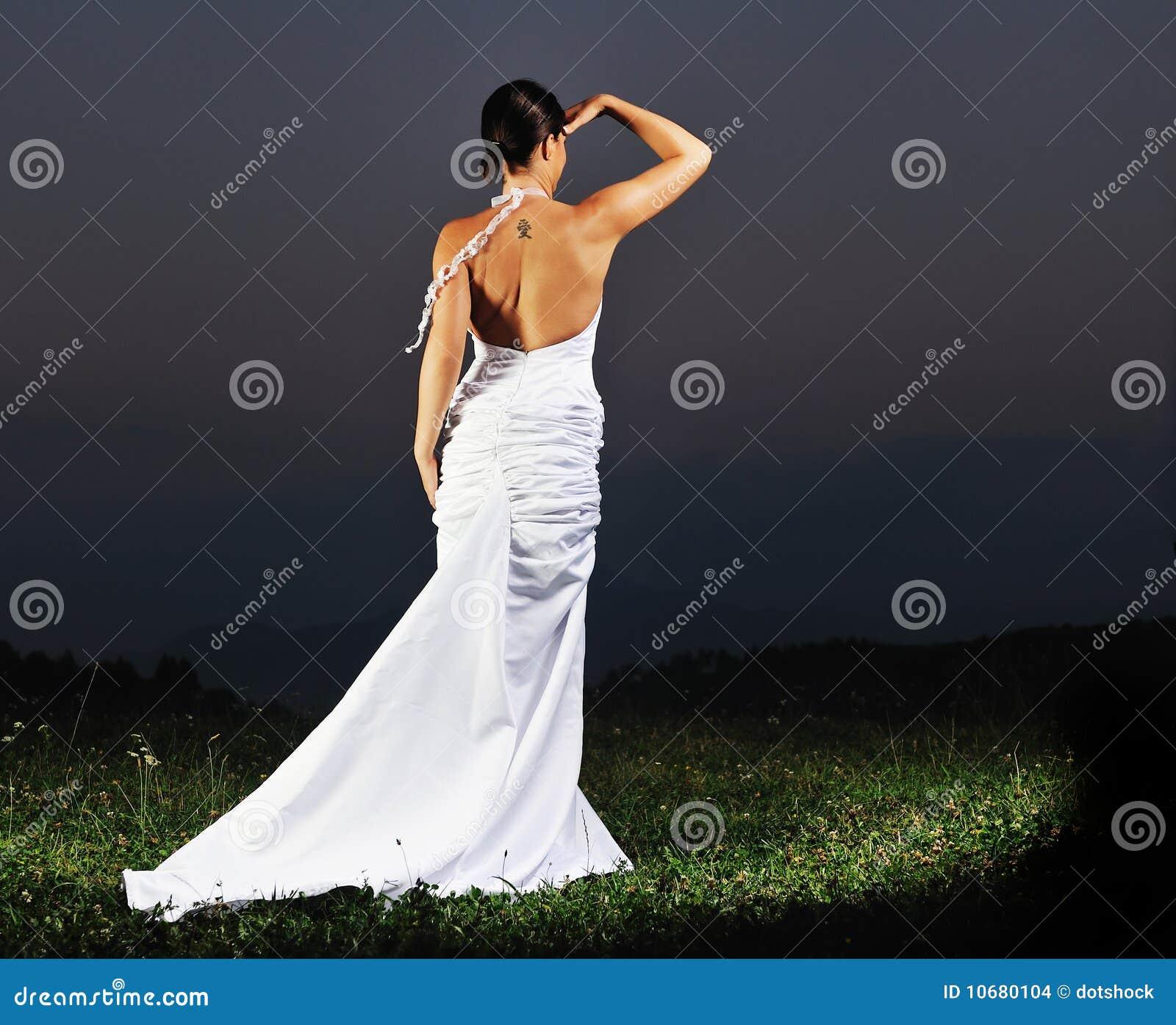 beautiful bride outdoor after wedding ceremony stock images image 10680104. Black Bedroom Furniture Sets. Home Design Ideas