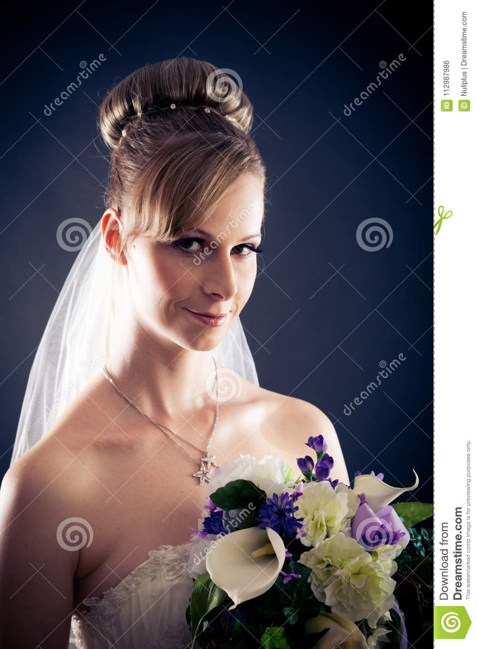 Beautiful Bride`s Portrait