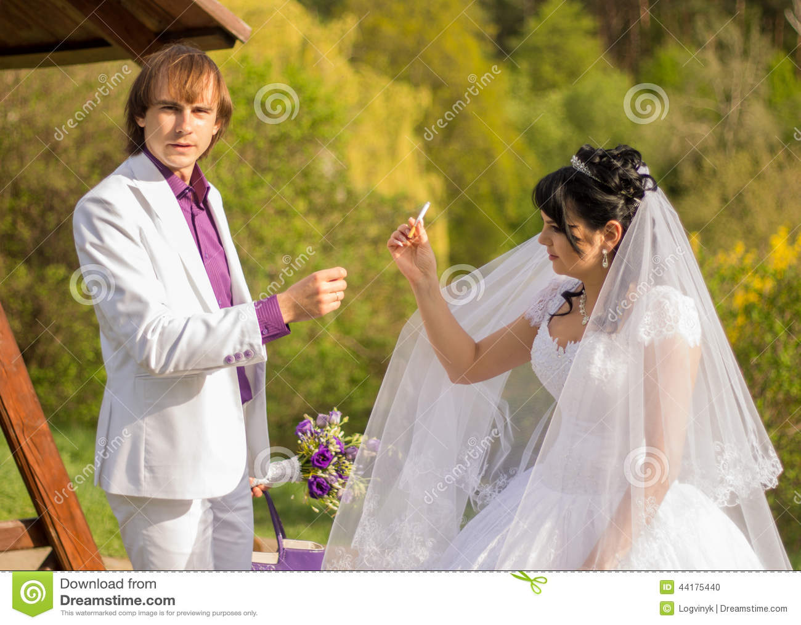 Beautiful Bride Smoking A Cigarette: Smoking Brides Wedding Dress At Websimilar.org