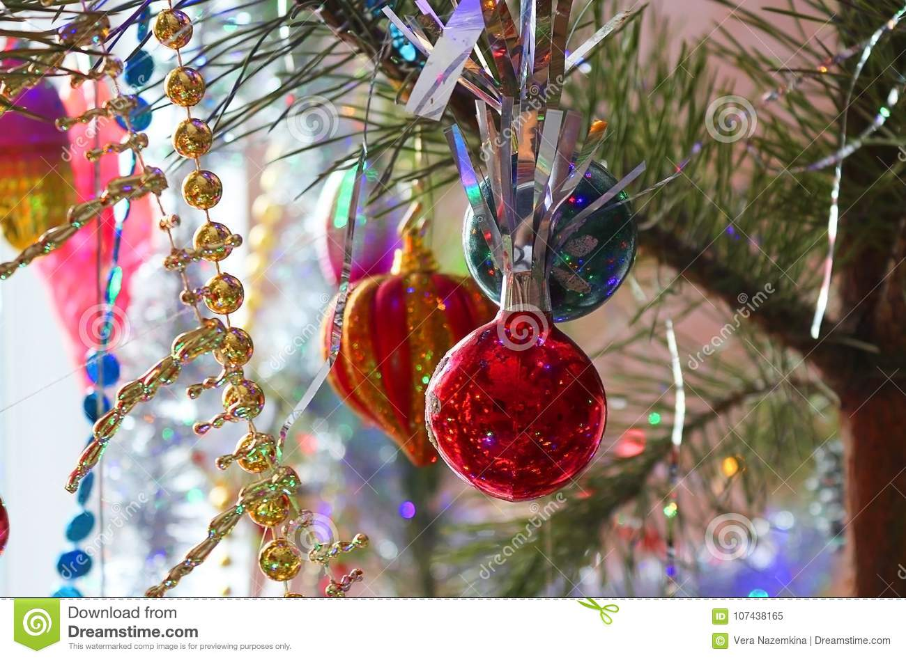 Download Beautiful, Bright, Colorful Decorations For Your Home And A  Christmas Tree On A
