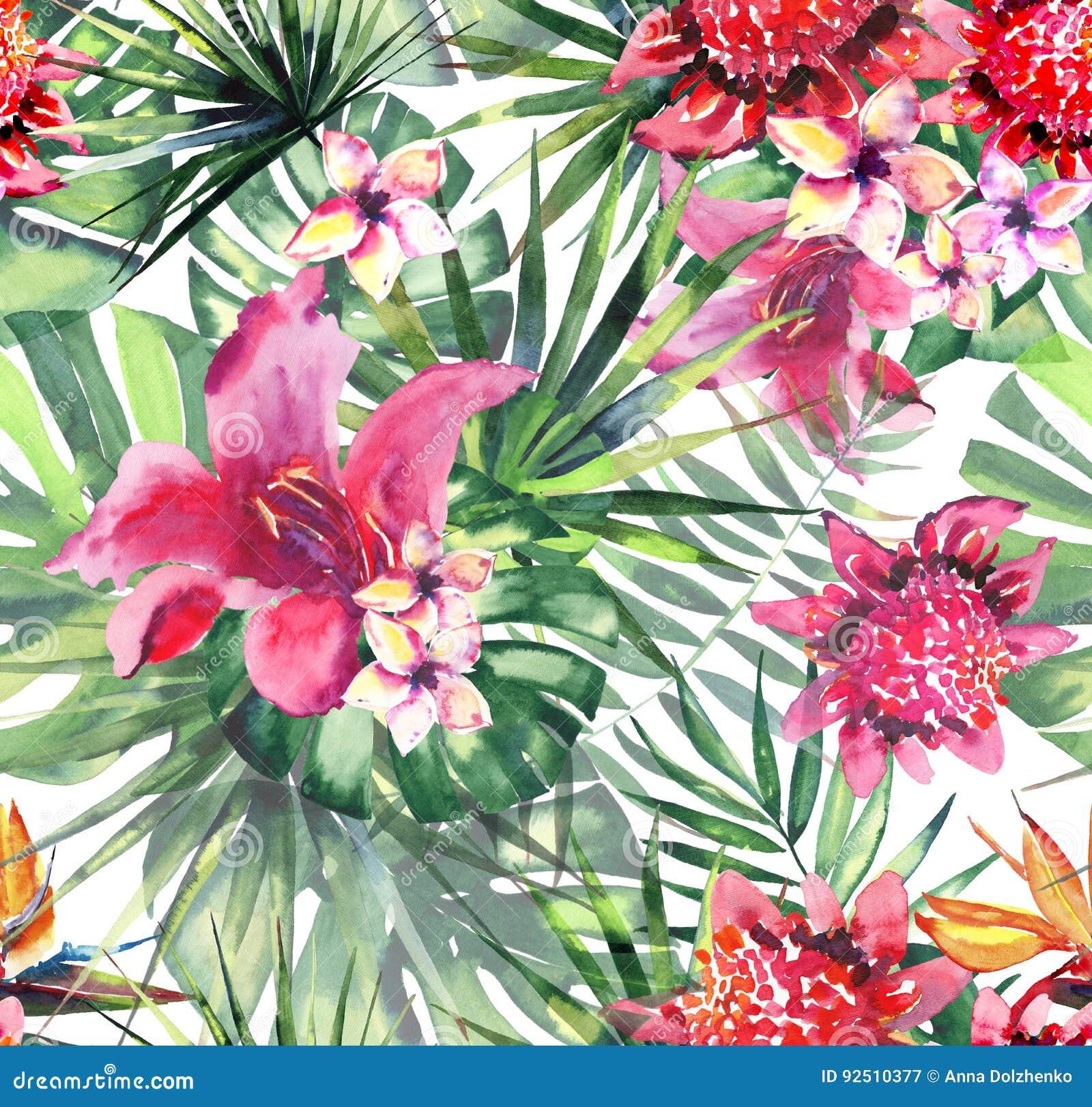 Hawaiian Pattern Sewing Fabric Get A Digital Print