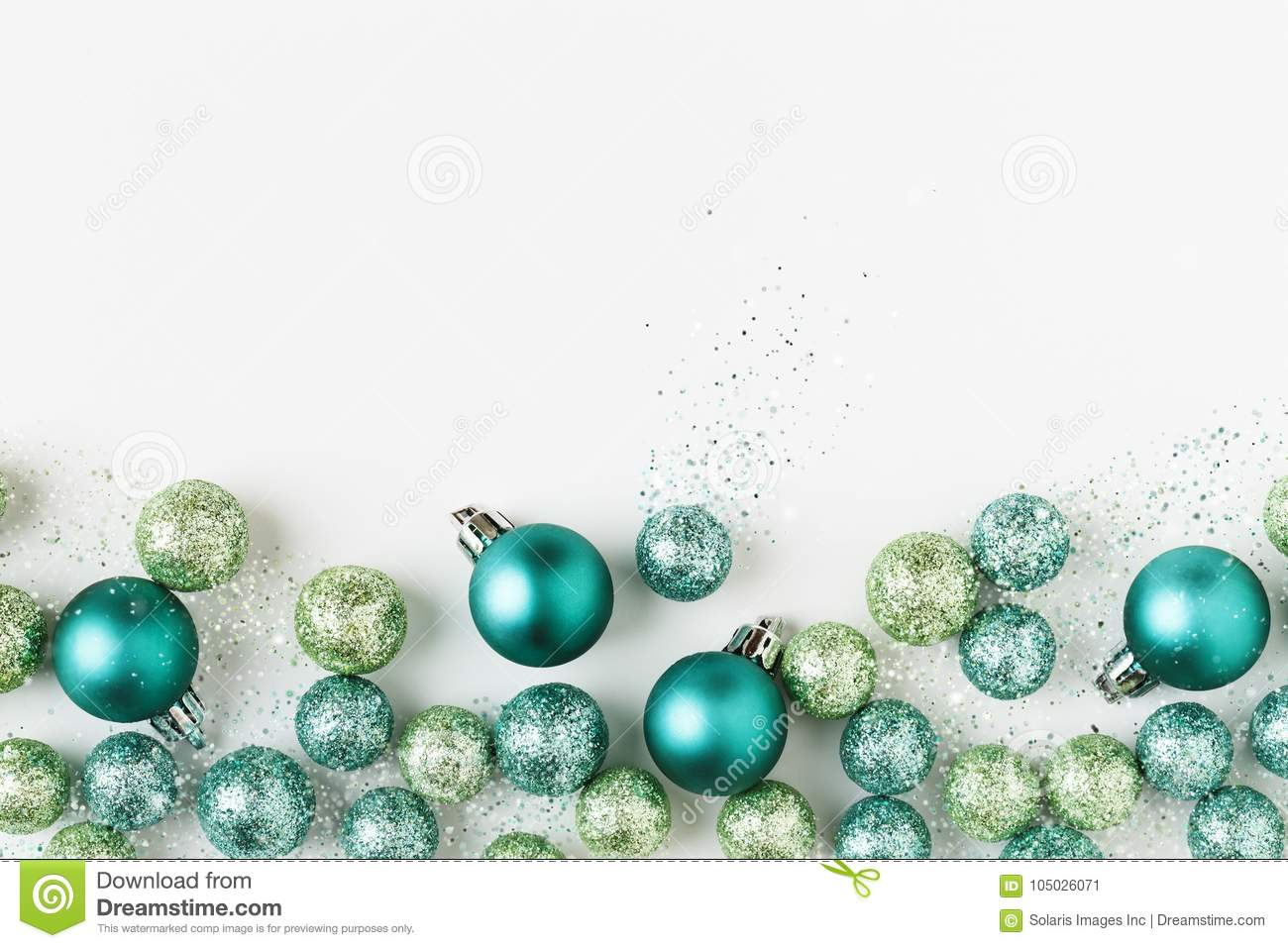 beautiful bright modern christmas holiday ornaments decorations in contemporary blue and green colors on - Modern Christmas Ornaments